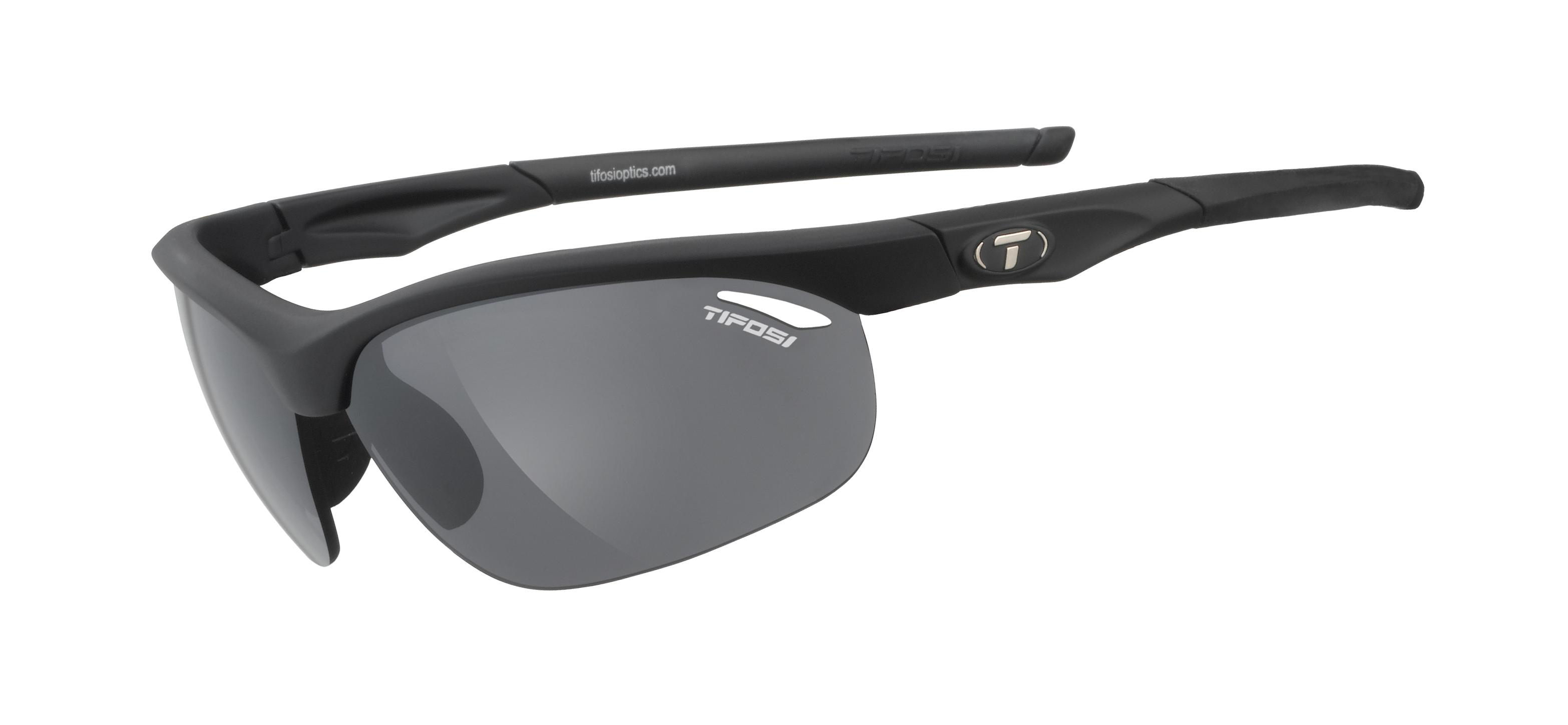 Tifosi Veloce Matte Black Smoke/Ac Red/Clear Cykeltøj