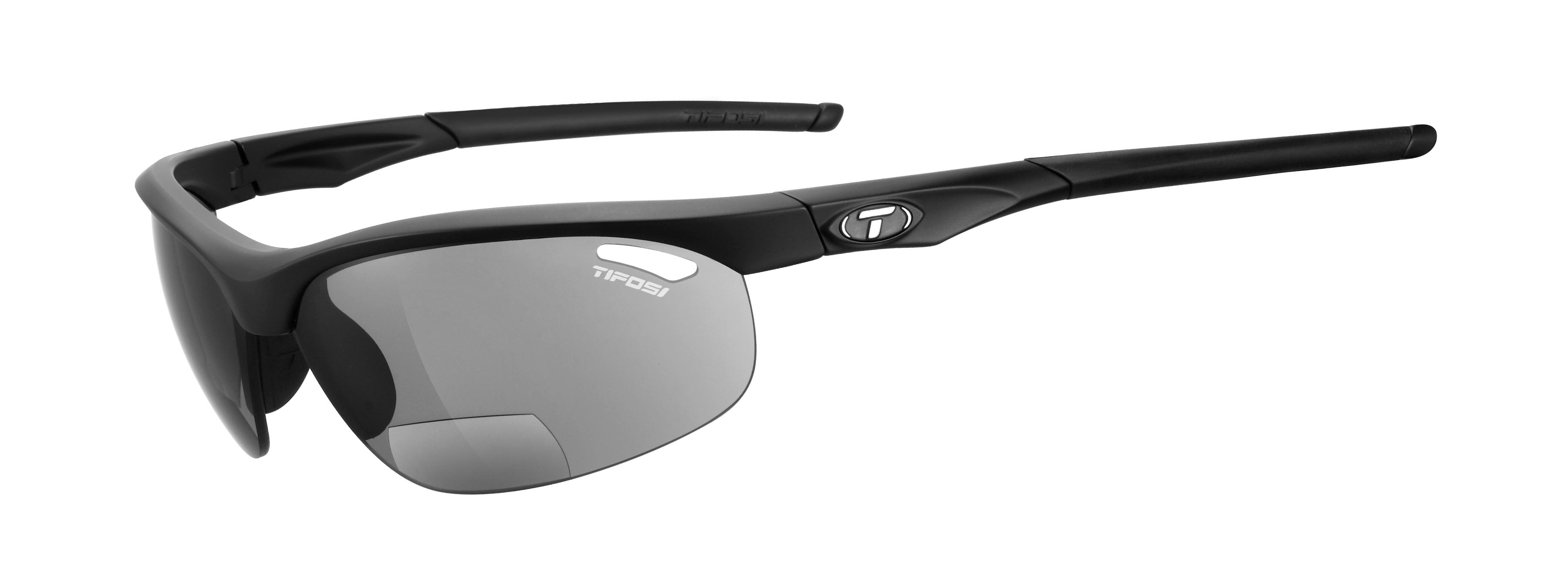 Pedalatleten Tifosi Veloce Matt Black Smoke Reader +2.5 Cykeltøj  Solbriller