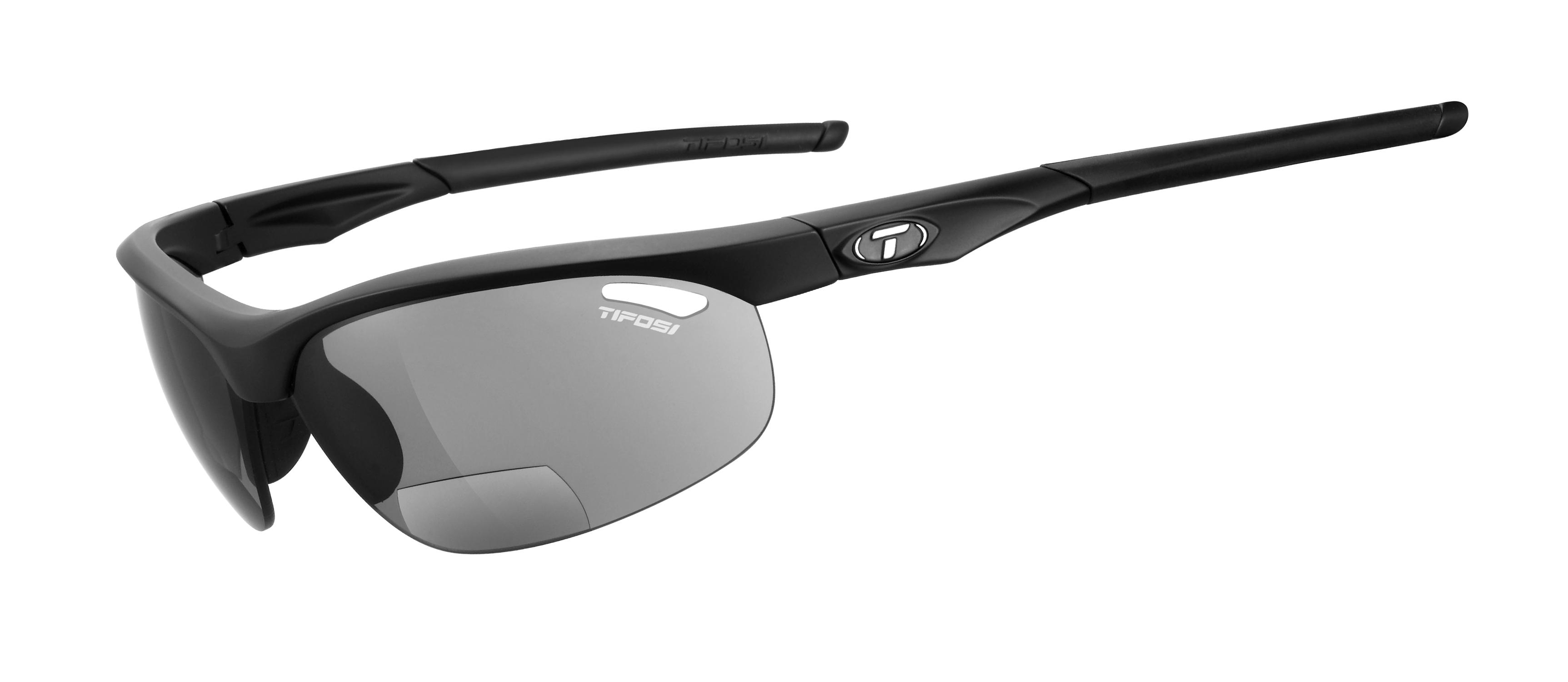 Tifosi Veloce Matt Black Smoke Reader +1.5 Cykeltøj  Solbriller