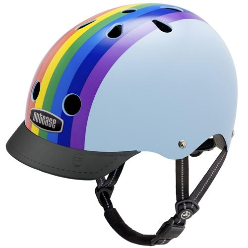 Cykelhjelm Nutcase Gen3 Street Rainbow Sky Mærker