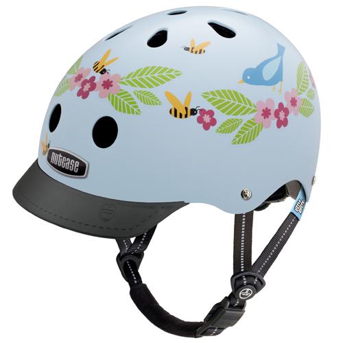 Pedalatleten Cykelhjelm Nutcase Little Nutty Gen3, Bluebirds & Bees 48-52Cm (Xs) Mærker