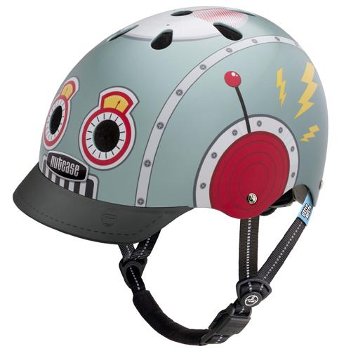 Cykelhjelm Nutcase Little Nutty GEN3, Tin Robot 48-52cm (XS)