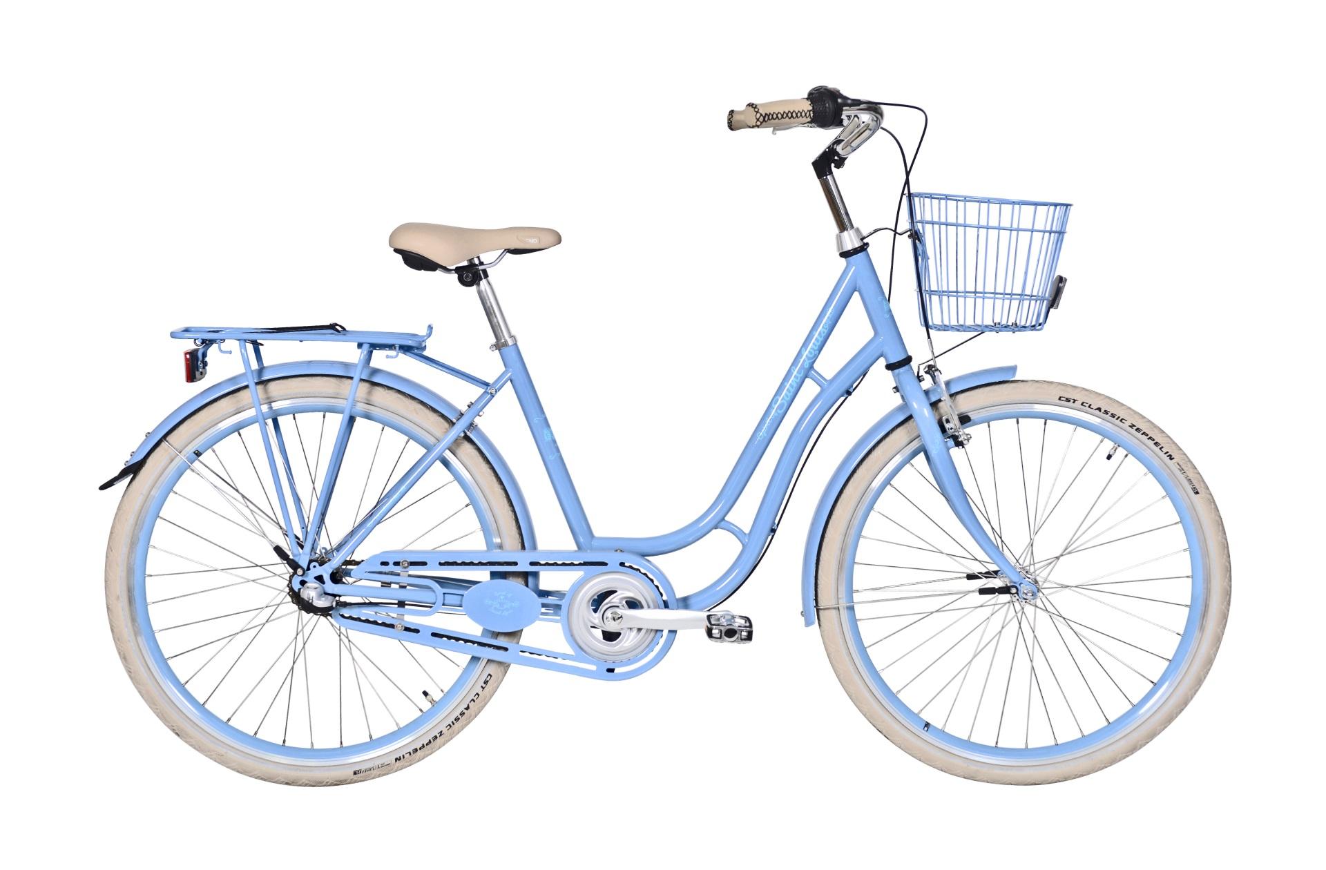 """Pedalatleten Ebsen Spirit Of St. Louis 26"""" Pige Lyseblå 7 Gear - 2019 Cykler"""