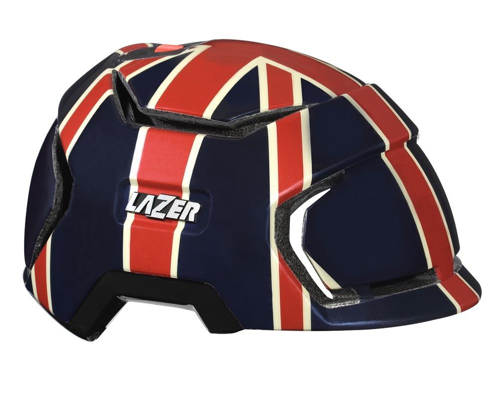 Image of Cykelhjelm Lazer Krux Union Jack 53-57cm