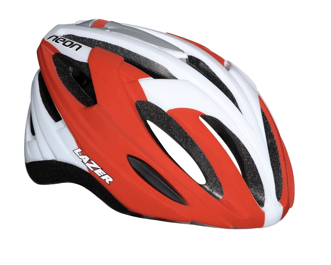 Cykelhjelm Lazer Neon Red White 62-65cm