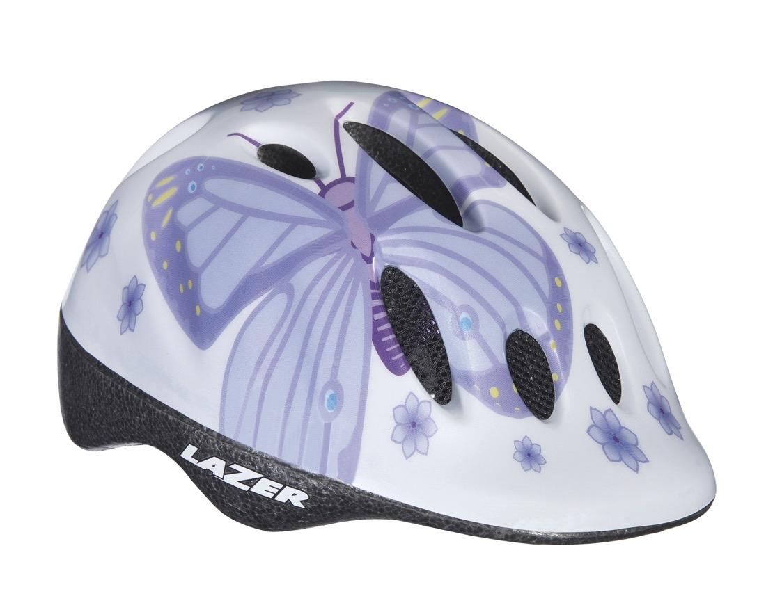 Image of Cykelhjelm Lazer Max Purple Butterfly 49-55cm