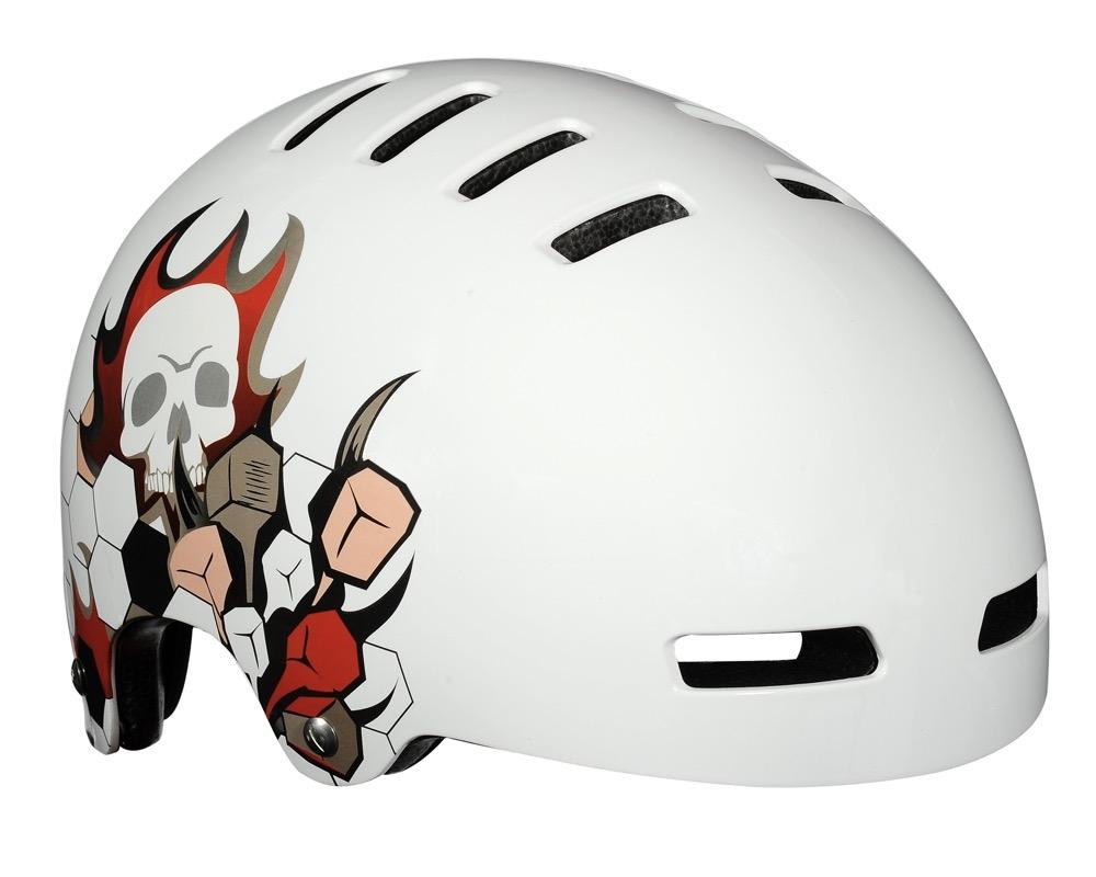 Cykelhjelm Lazer Street Skull White 59-61cm