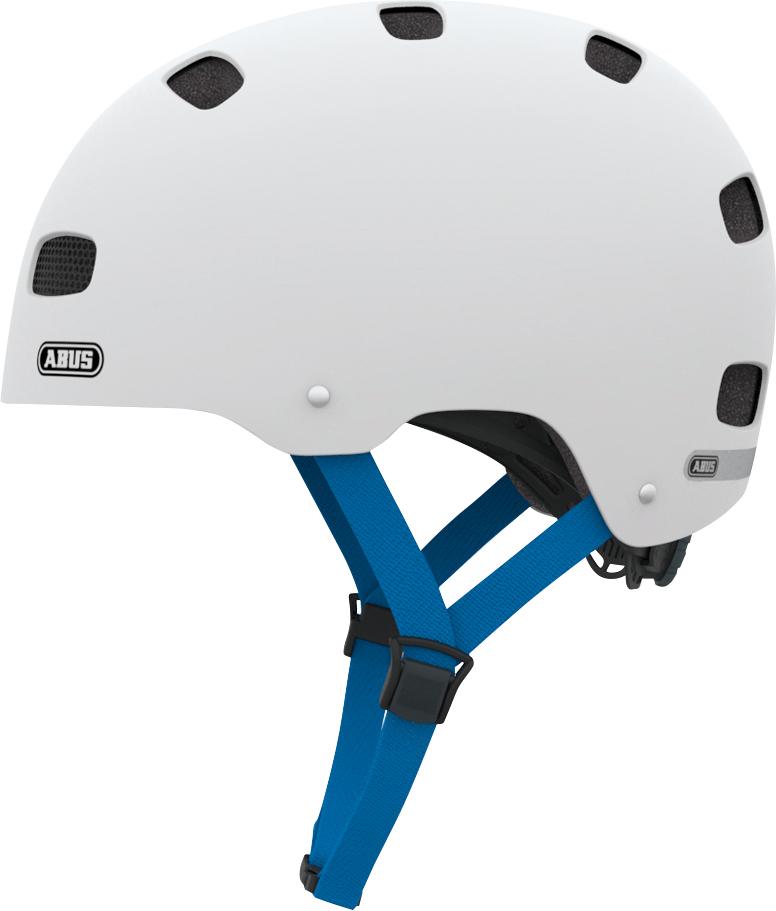 Cykelhjelm Abus Scraper Kid 2.0 - Polar Matt (48-55Cm) Mærker