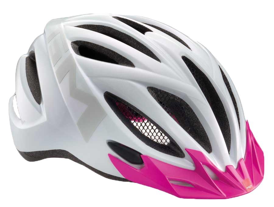 MET 20Miles Lady Hvid/Pink 52-58cm - Medium