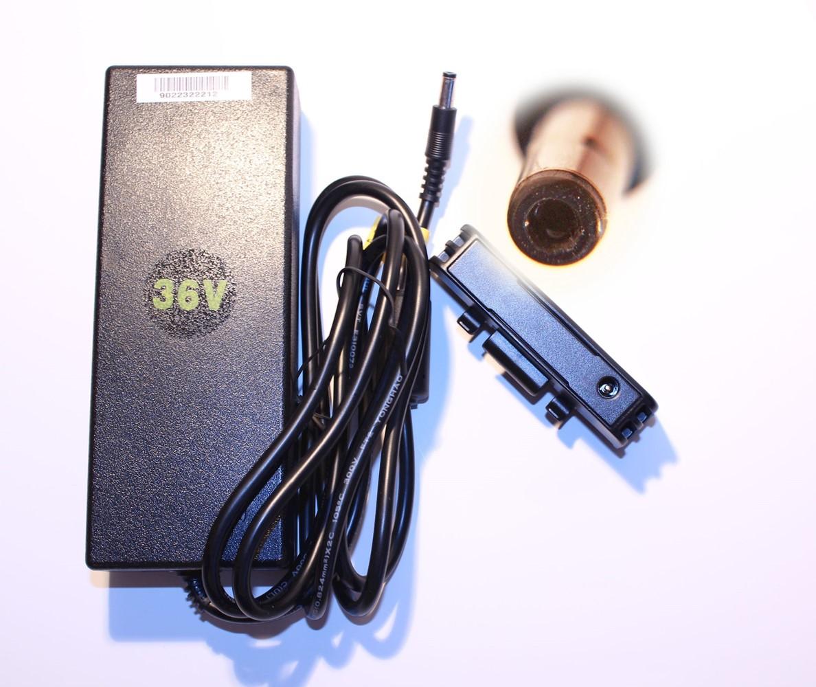 Pedalatleten Oplader 36V Til Kædeskærms Batteri Incl Adapter Tilbehør & Udstyr||Elcykel Reservedele||Opladere Til Elcykler