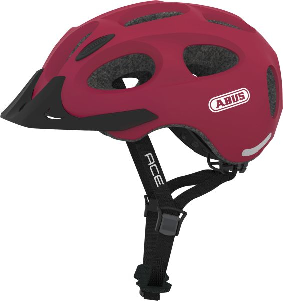 Image of Cykelhjelm Abus Youn-I Ace - Cherry Red