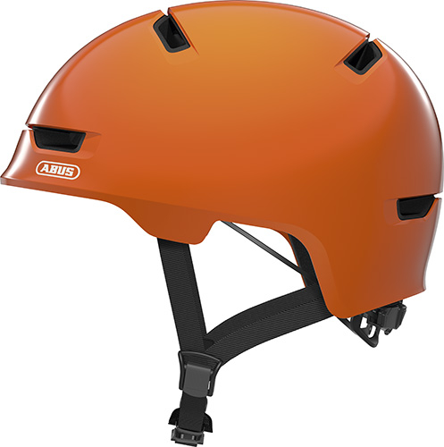 Pedalatleten Cykelhjelm Abus Scraper Kid 3.0 - Shiny Orange Cykelhjelme||Skate, Urban Og City||Junior Hjelme