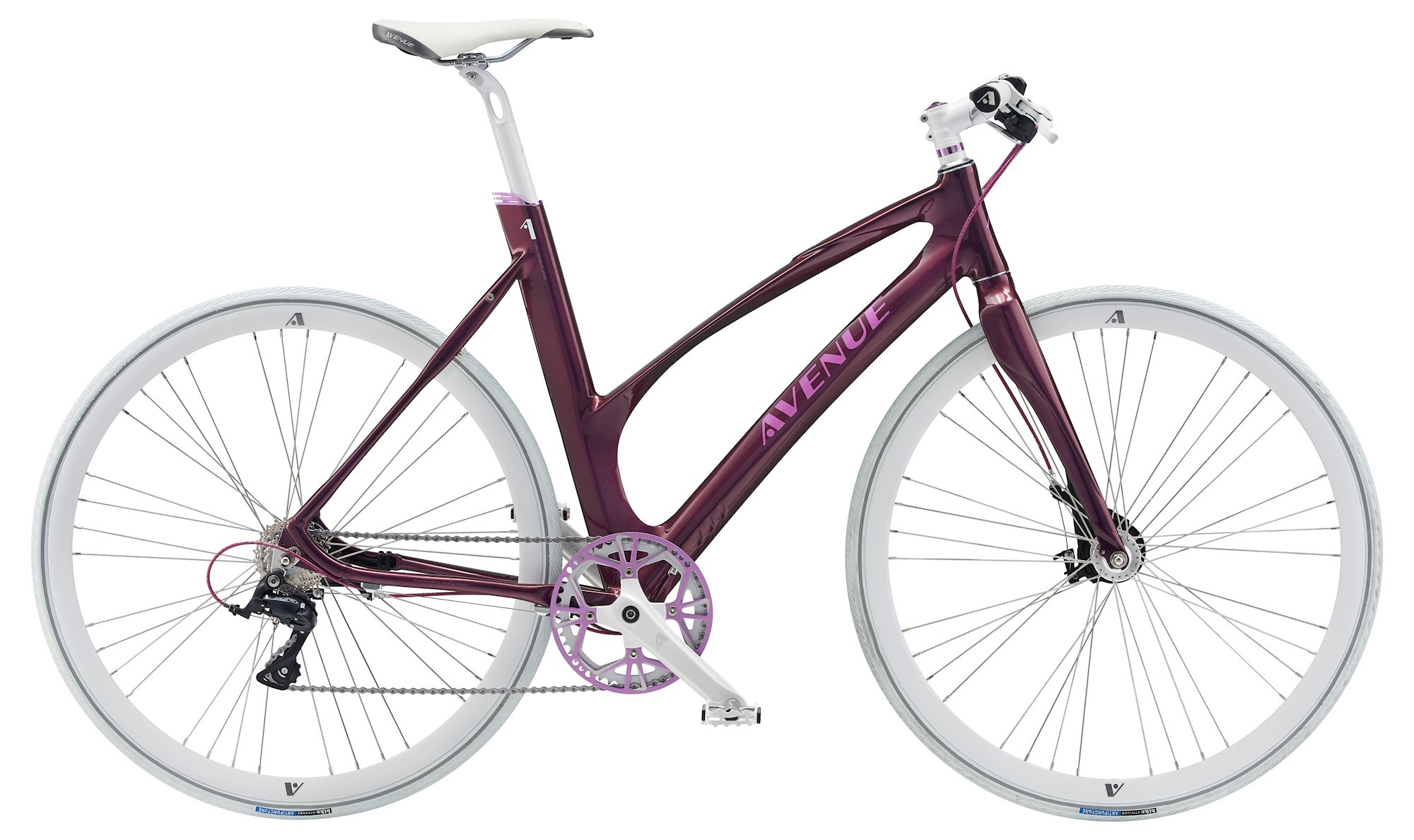 Image of Avenue Airbase Dame 9 Gear Rullebremse 46cm - Purple 2018