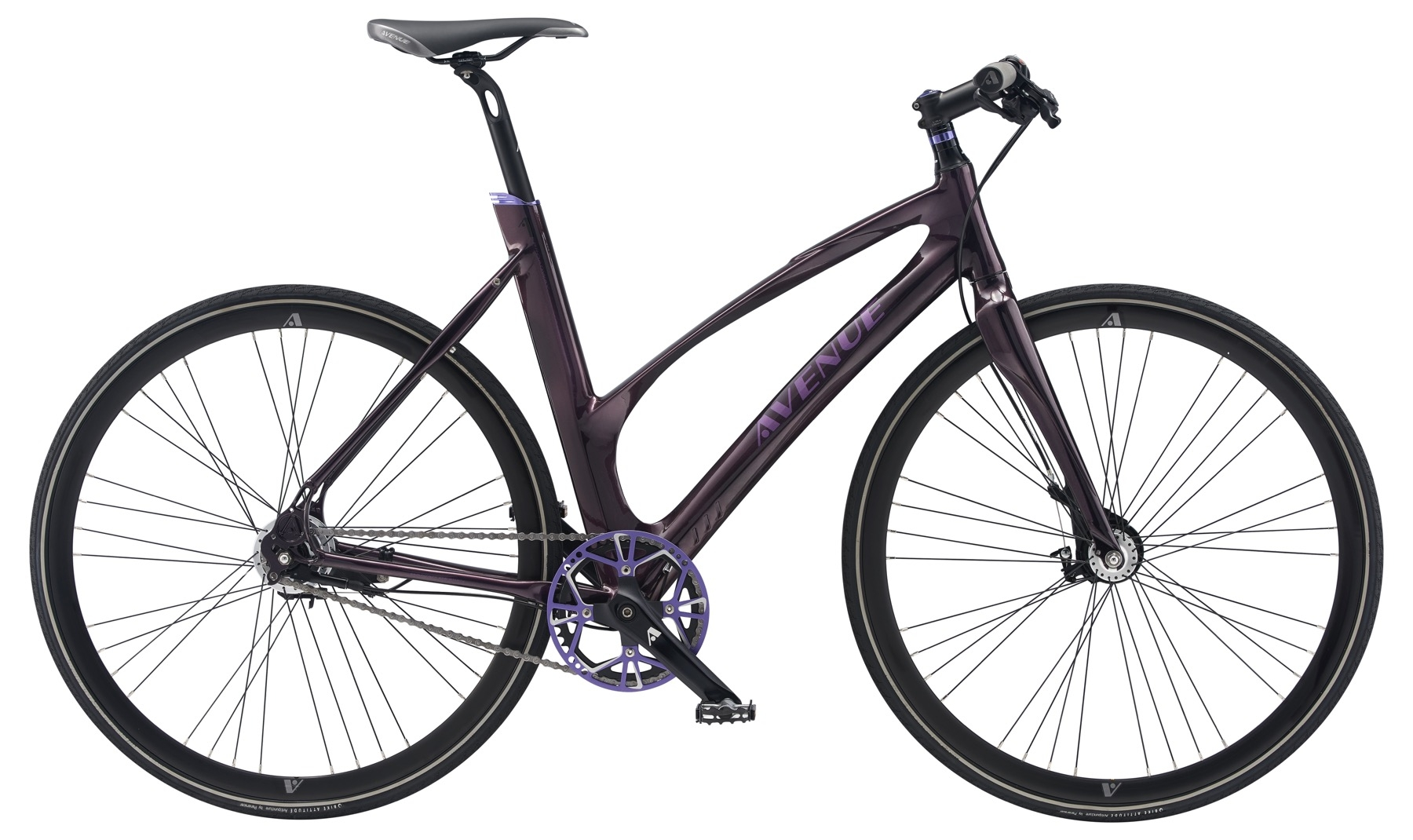 Avenue Broadway Dame 7 Gear Rullebremse - Shiny Purple Black 2018