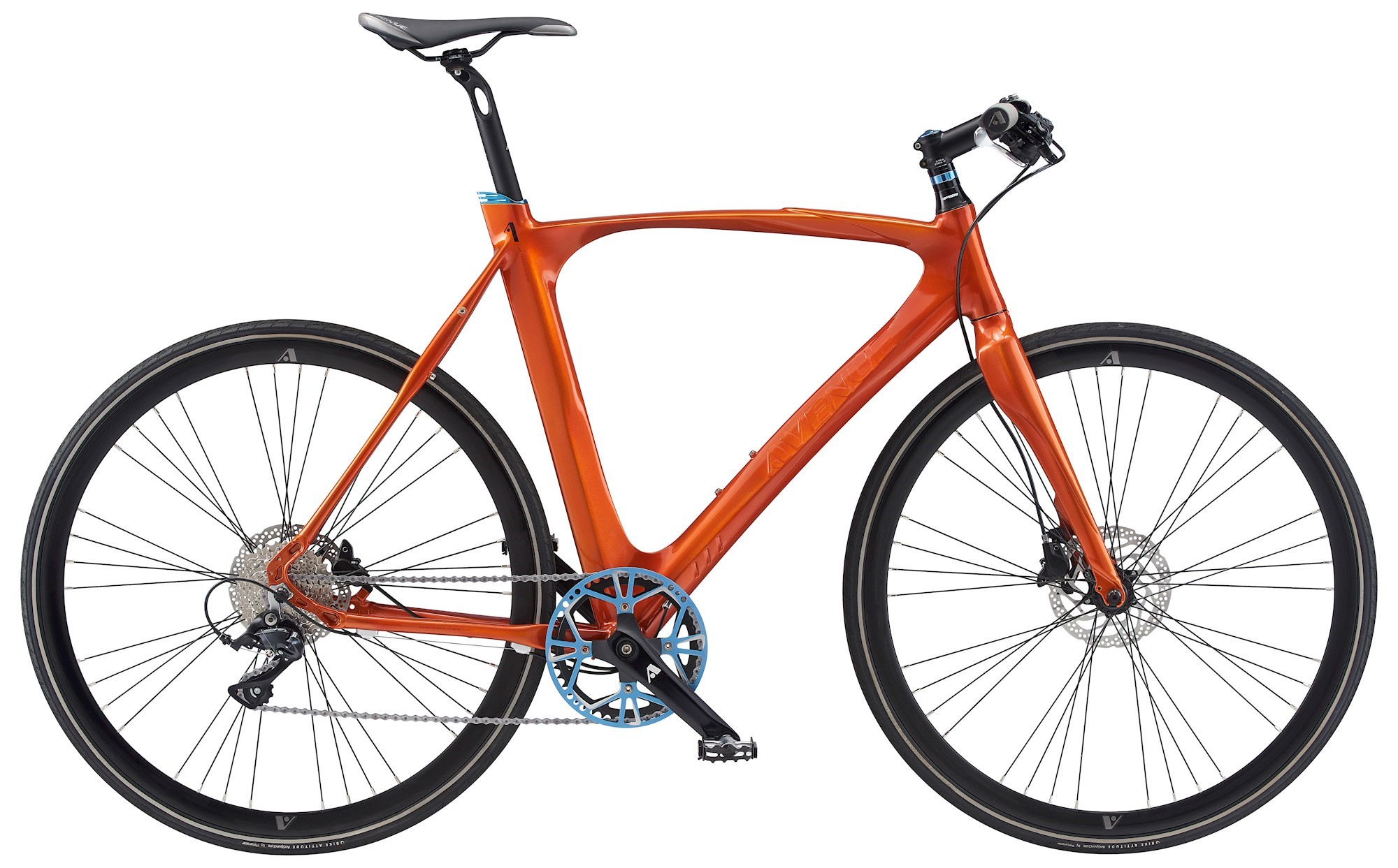 Image of Avenue Airbase Herre 9 Gear Skivebremse Dark Orange Shiny - 2019
