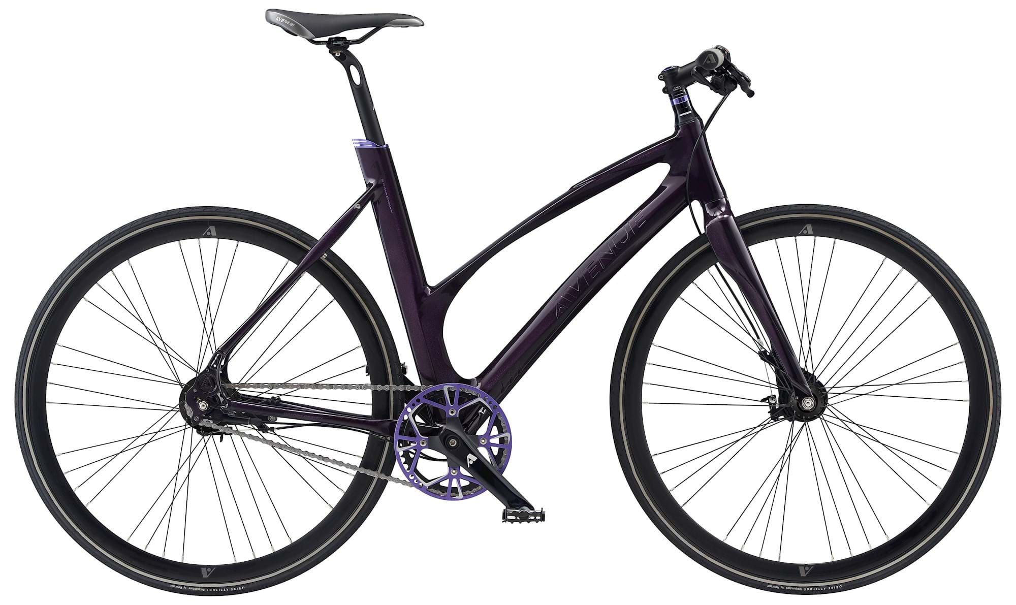 Avenue Broadway Dame 7 Gear Rullebremse Purple Black Shiny - 2019