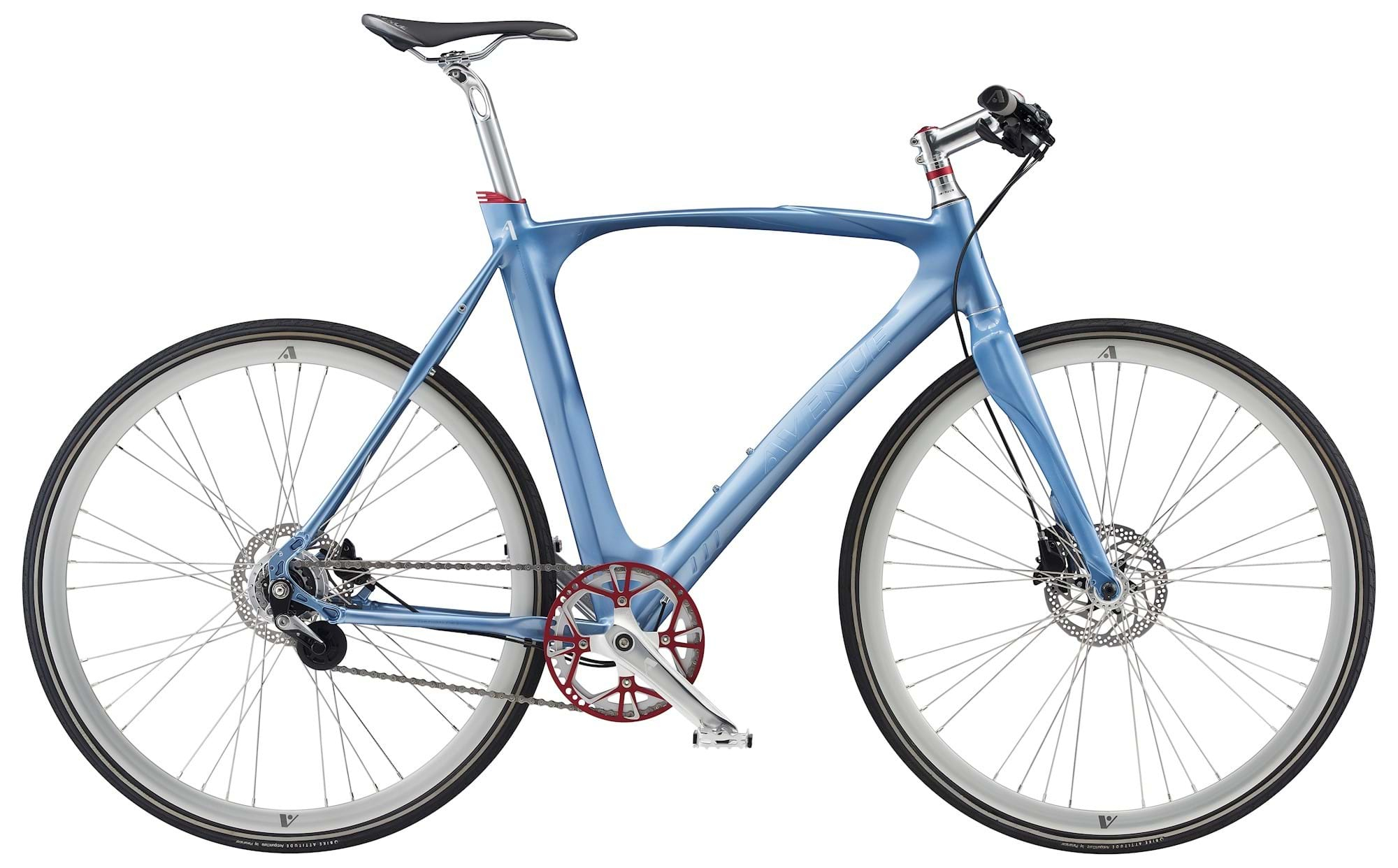 Image of Avenue Broadway Herre 7 Gear Skivebremse - Light Blue Petrol Shiny 2020