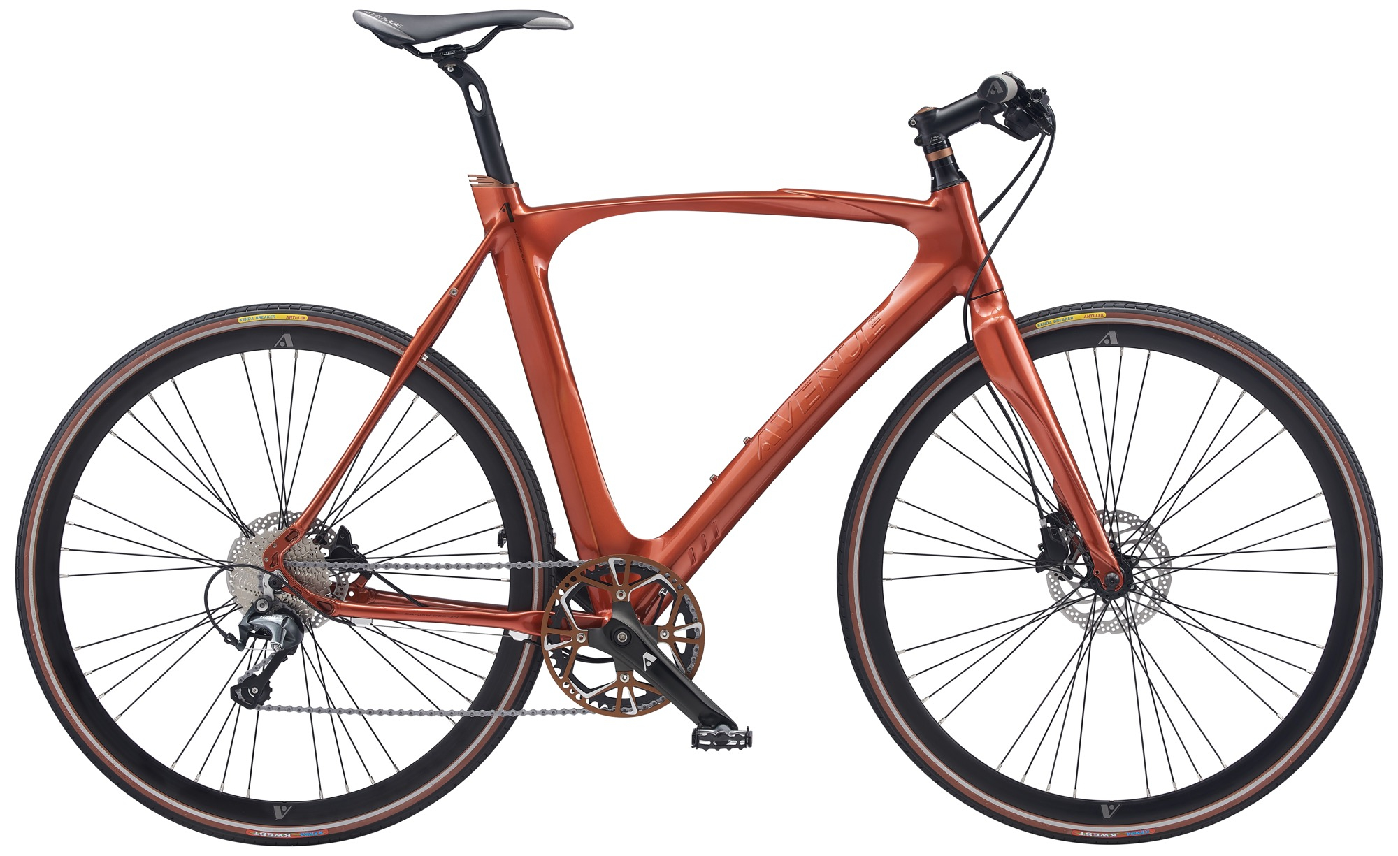 Image of Avenue Airbase Herre 10 Gear Tiagra Skivebremse Shiny burnt red - 2020
