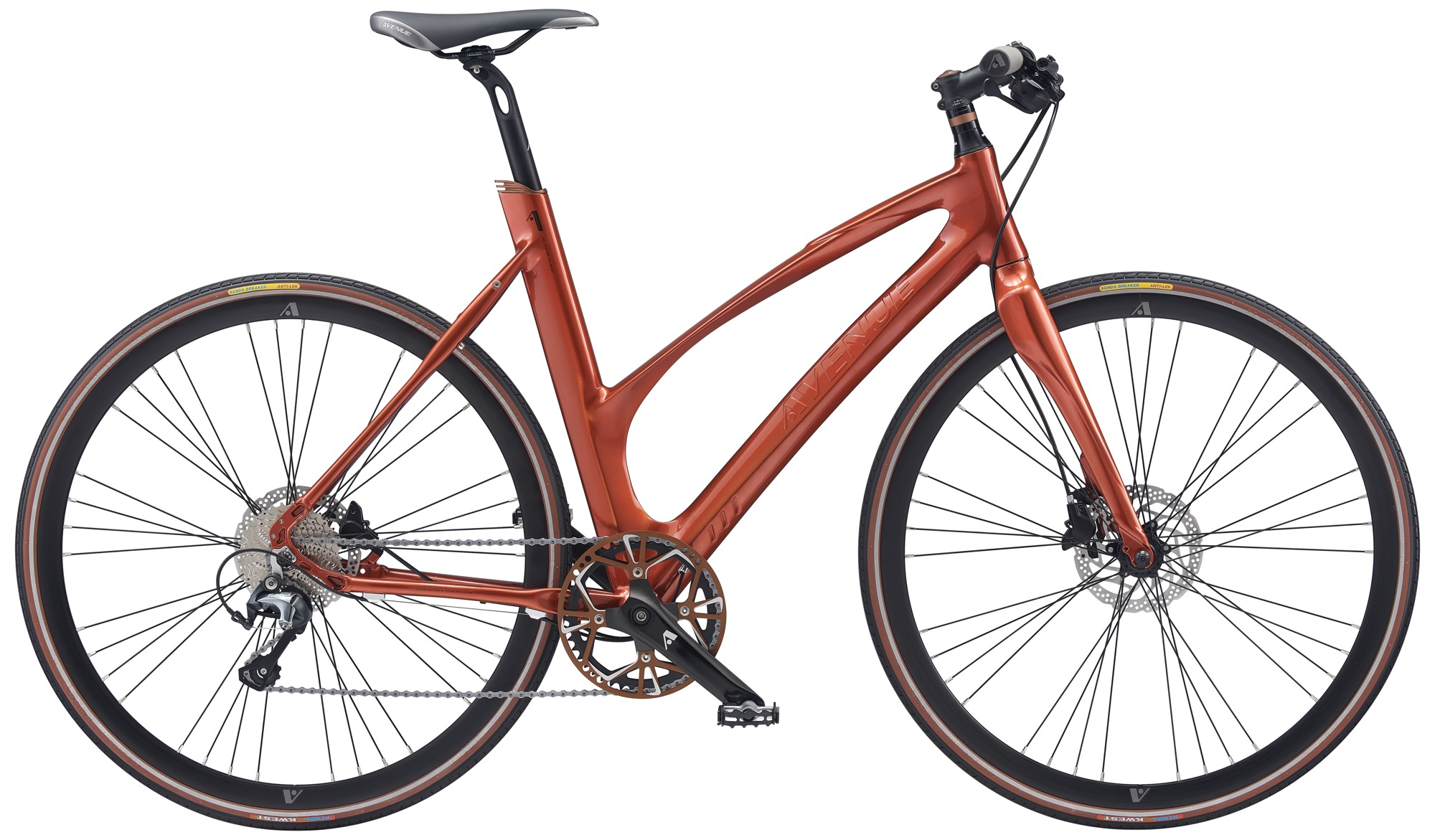 Image of Avenue Airbase Dame 10 Gear Tiagra Skivebremse - Shiny burnt red 2020