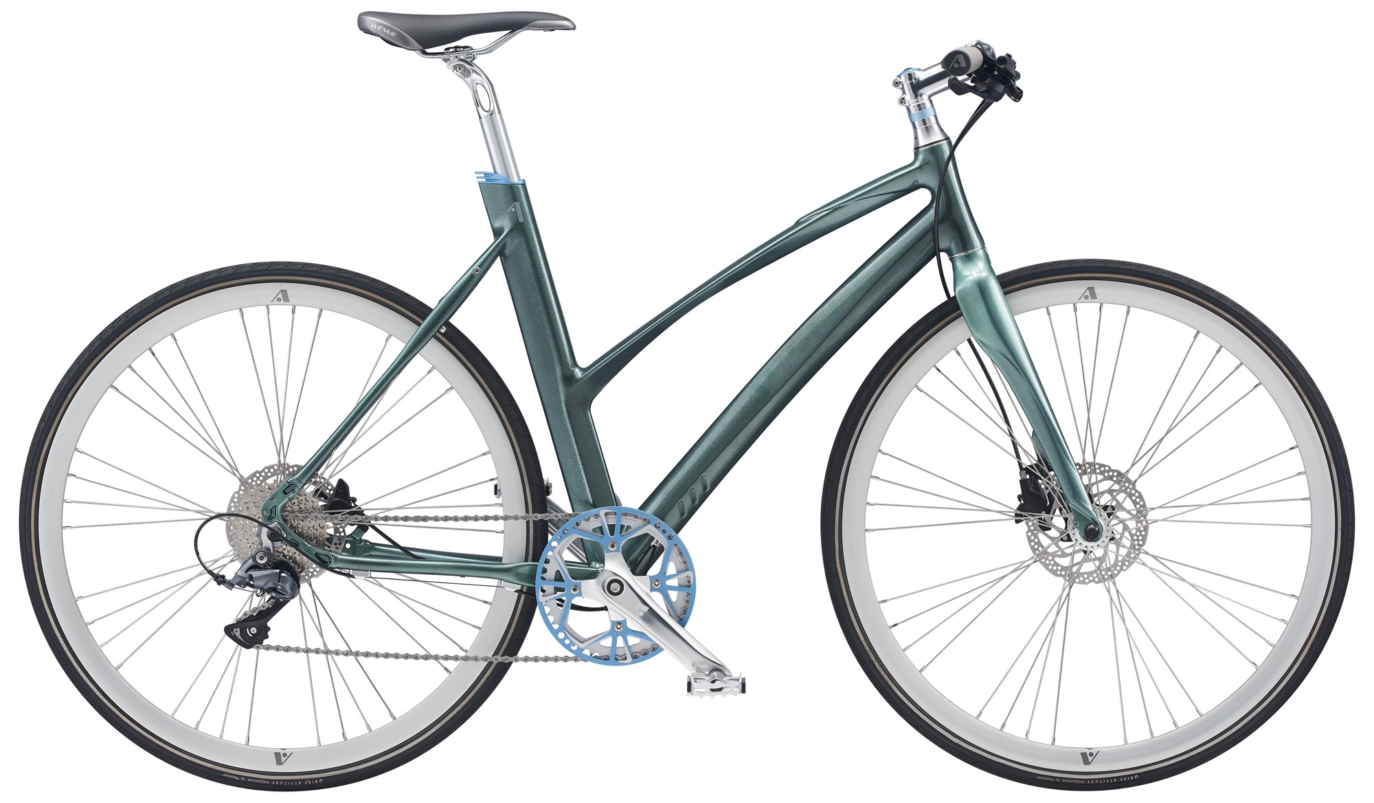 Image of Avenue Airbase Spirit Dame 8 Gear Skivebremse - Shiny Glossy Green 2020