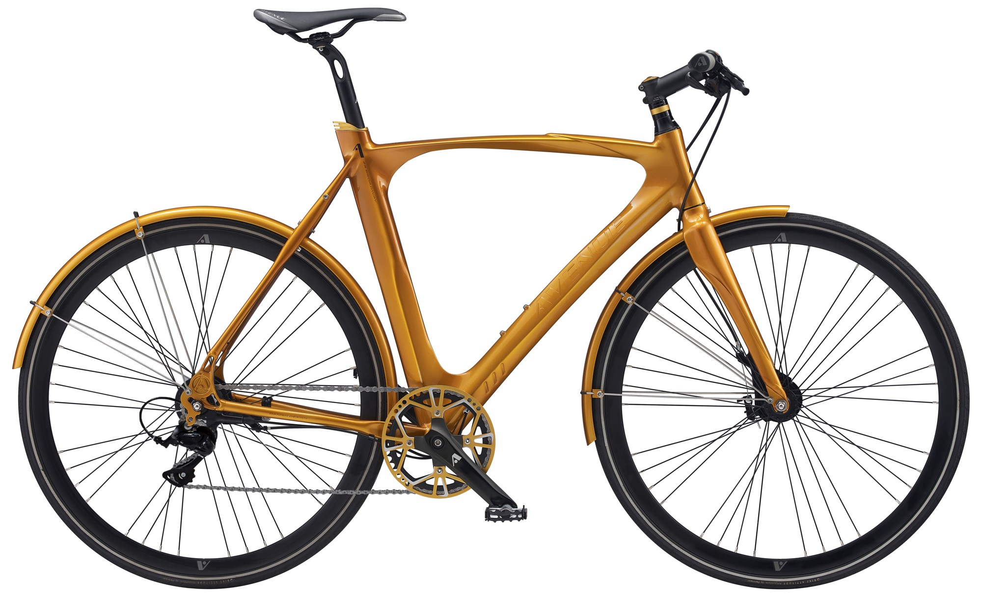 Image of   Avenue 25 Airbase Gent. 10 speed Tiagra Hydr. Disc. Shiny gold