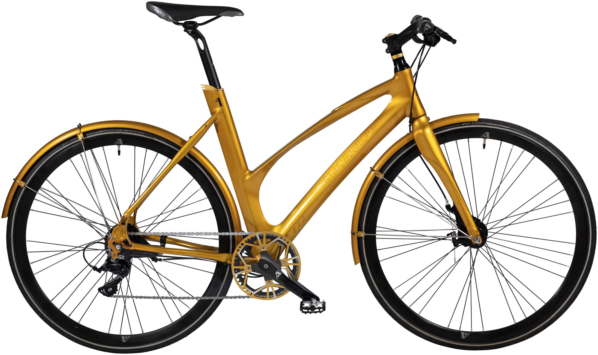Image of   Avenue 25 Airbase Lady. 10 speed Tiagra Hydr. Disc. Shiny gold