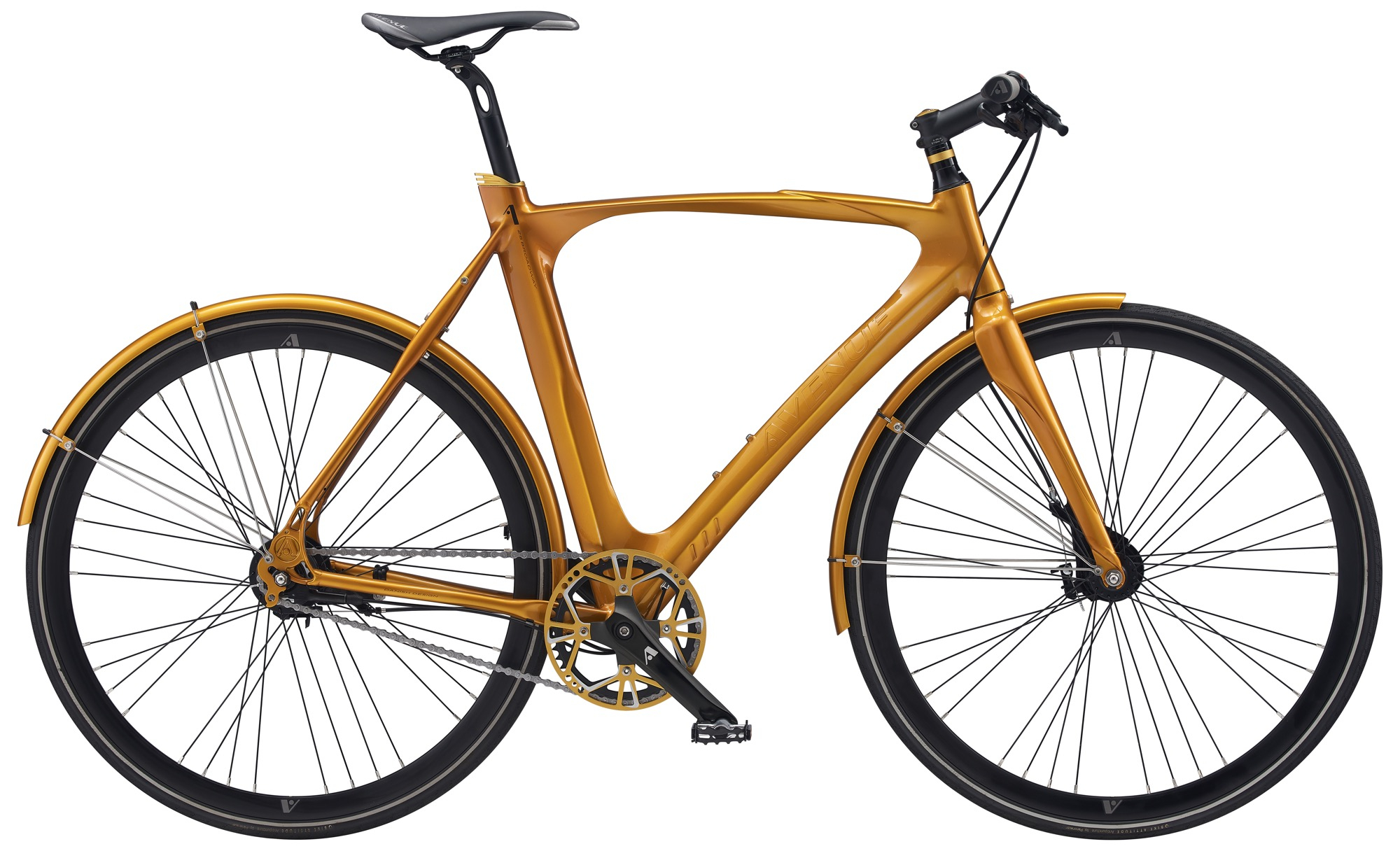 Image of   Avenue 25 Broadway Gent. 7 speed Nexus Roller. Shiny gold
