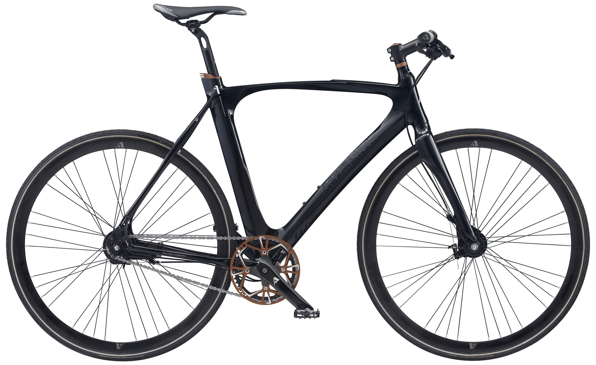 Avenue Broadway Herre 7 Gear Rullebremse - Shiny Black 2020 Cykler||Avenue Cykler