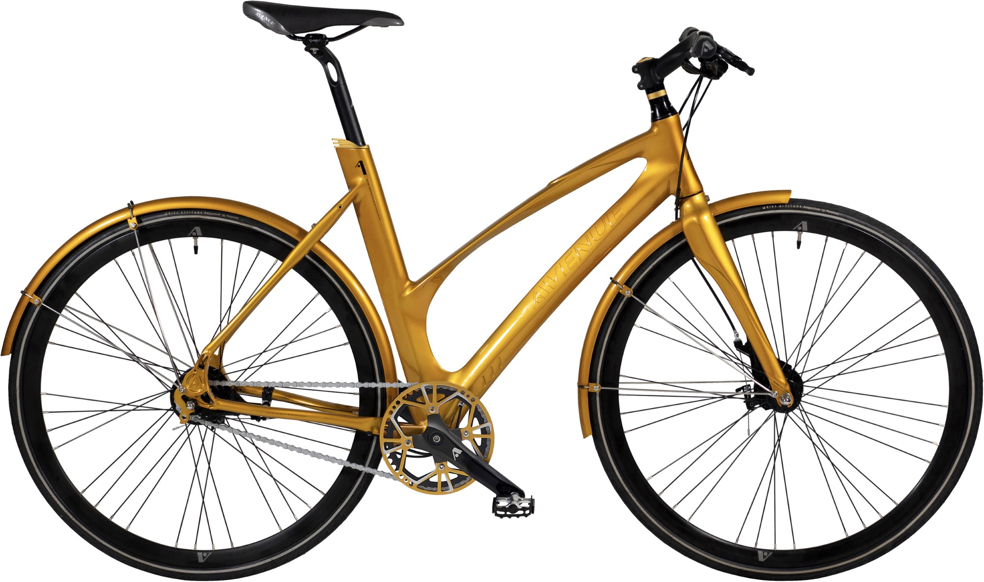 Image of   Avenue 25 Broadway Lady. 7 speed Nexus Roller. Shiny gold