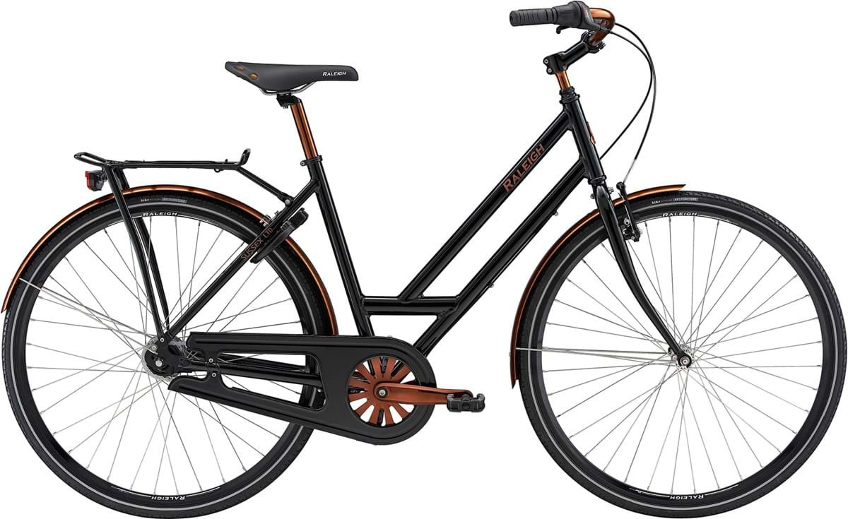 Image of Raleigh Sussex LTD Dame 7 Gear Fodbremse Blank Sort 52cm - 2019
