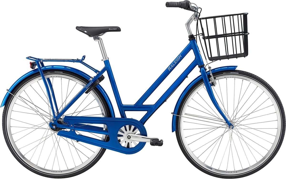 Raleigh Sussex Dame 7 Gear Fodbremse Blank Blå - 2019 Cykler||Raleigh