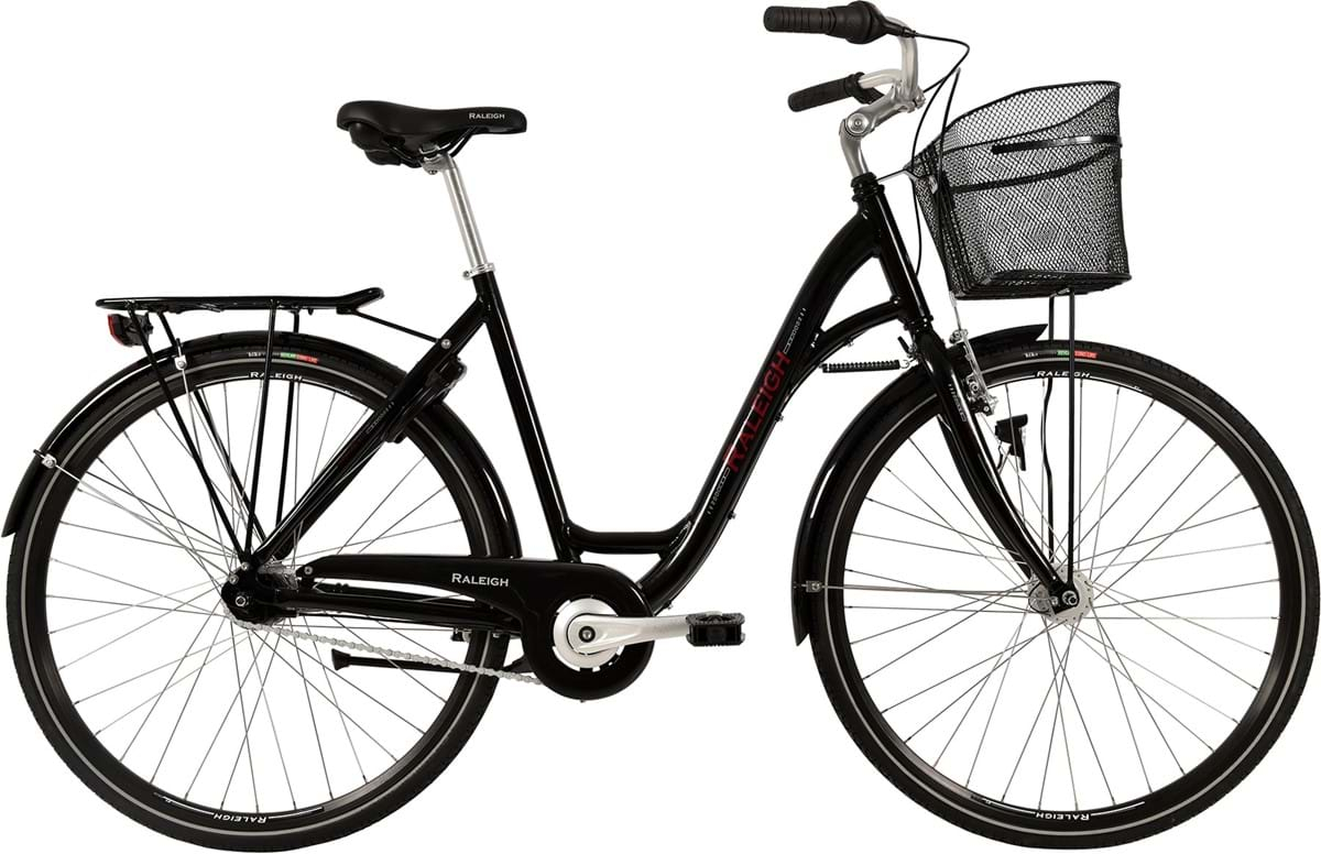 Image of Raleigh Shopping Alu Dame 7 Gear Fodbremse Blank Sort - 2019