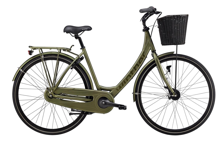 Winther Green 4 Dame 7 Gear Fod-/Rullebremse - Mat Grøn 2018