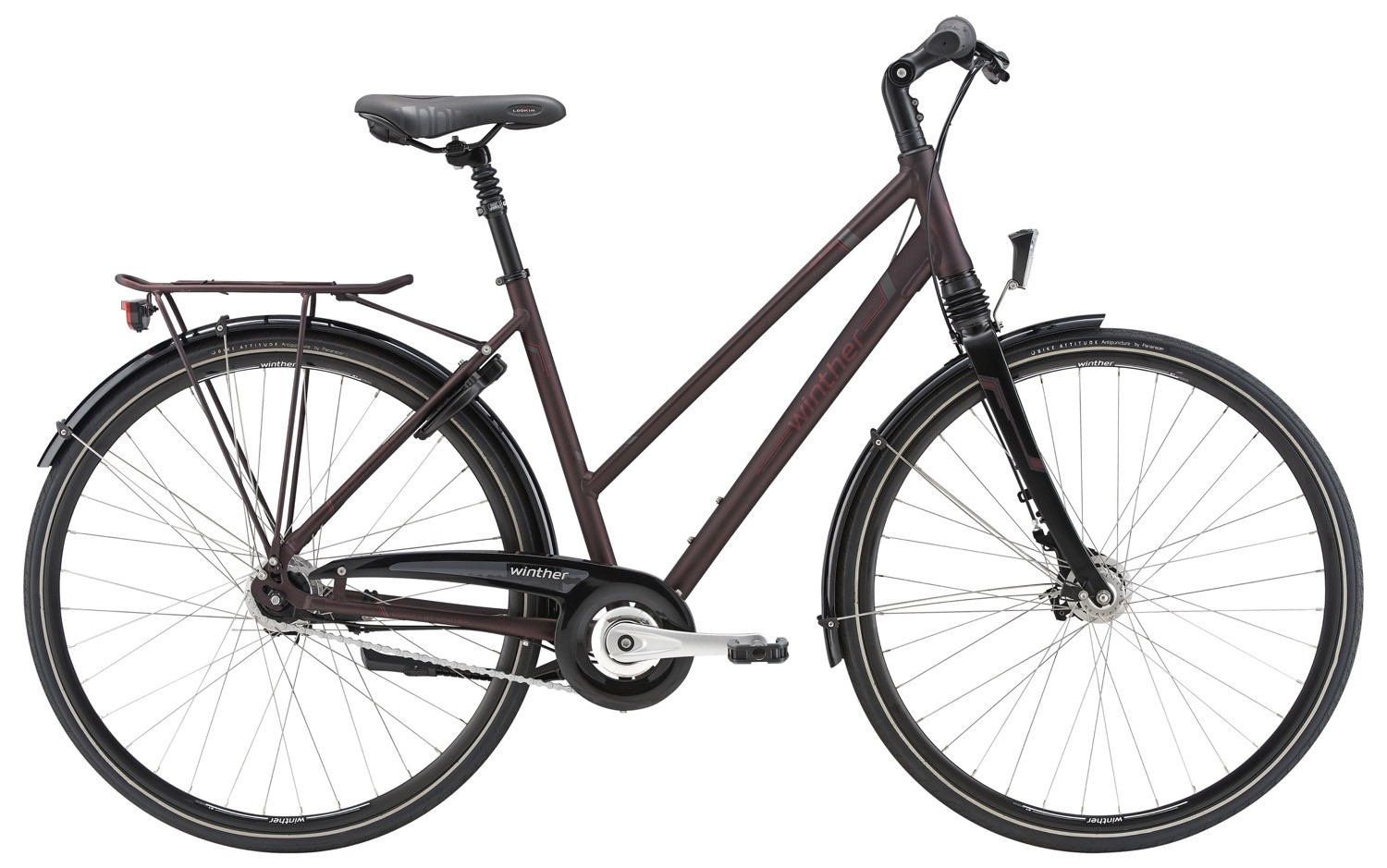 Image of Raleigh Dorset Dame 7 Gear Rullebremse 56cm - Mat Rød 2018