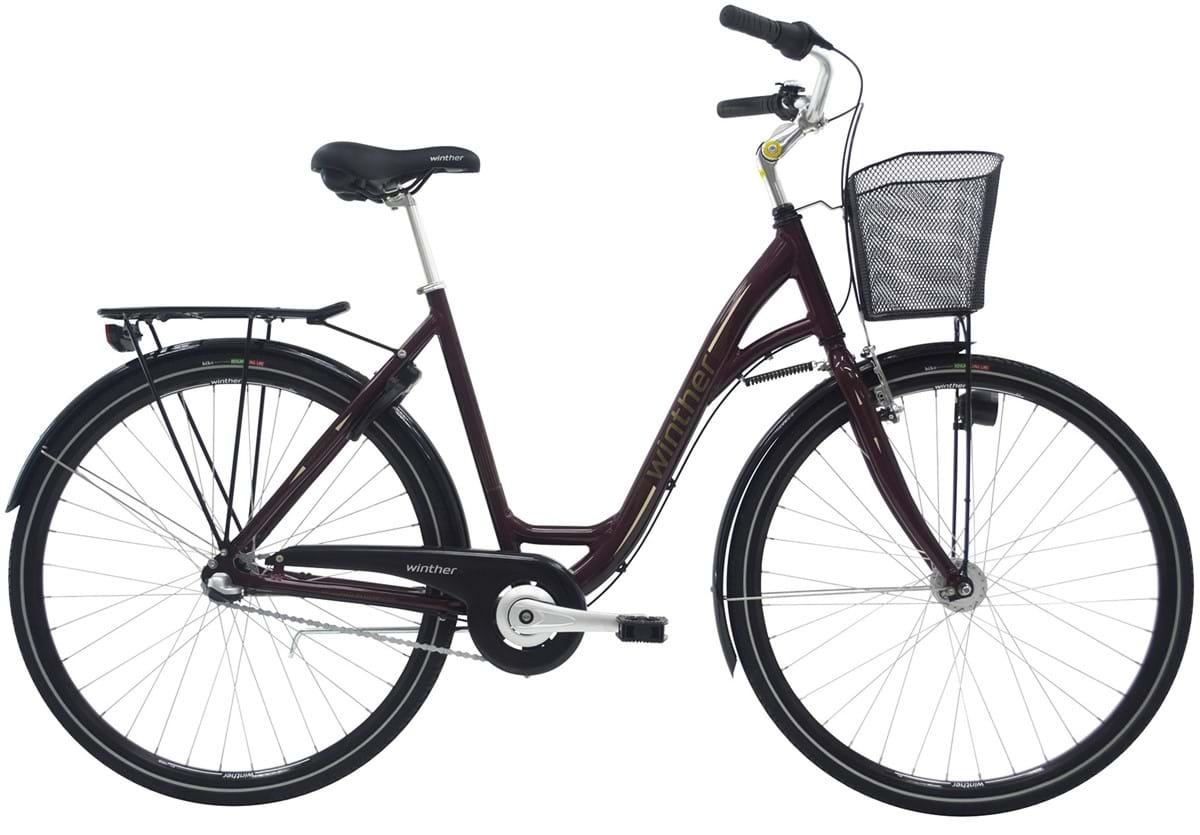 Pedalatleten Winther Shopping Alu Dame 3 Gear Fodbremse Rød - 2019 Mærker