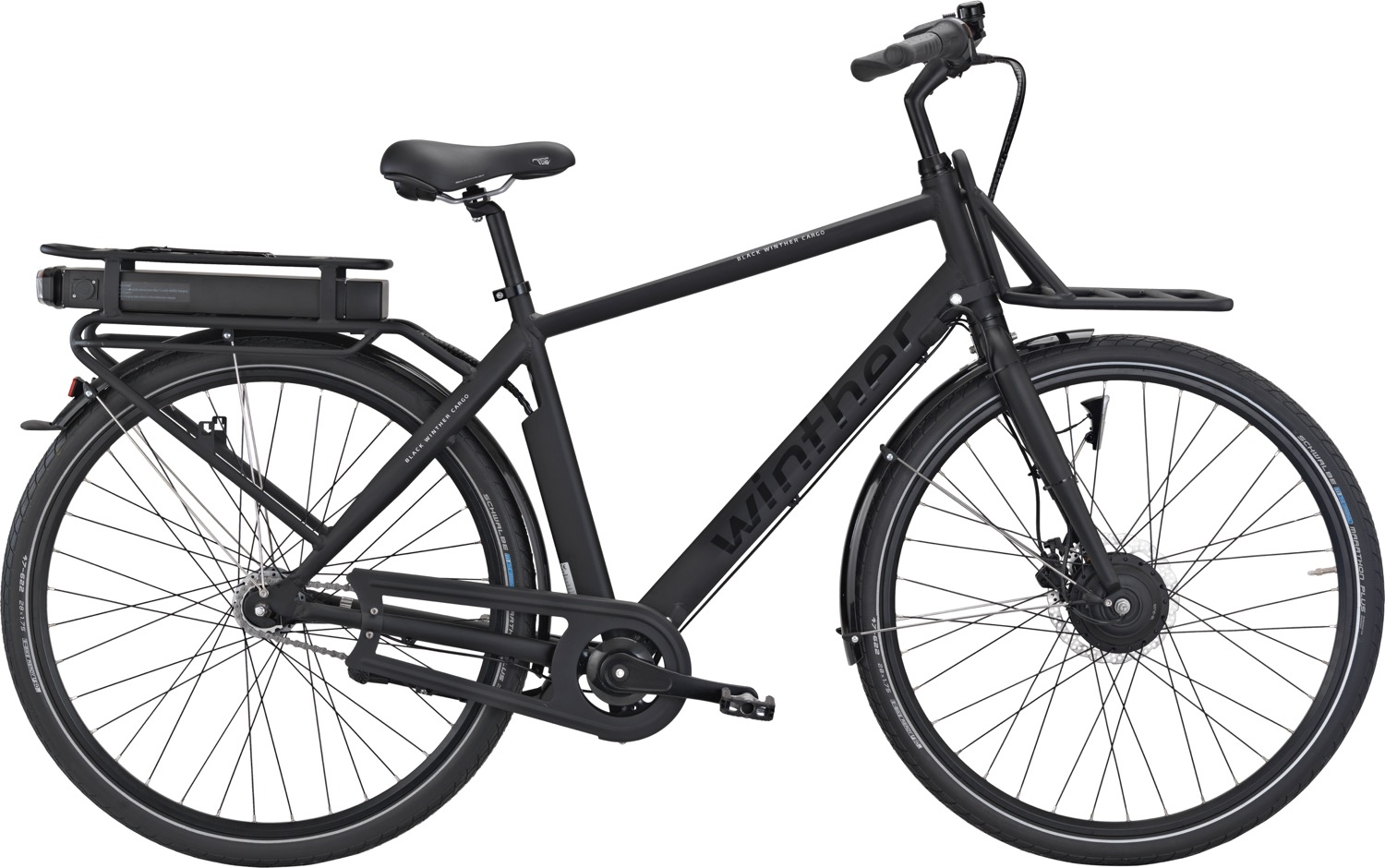 Winther Black E Cargo Herre 7 Gear 53cm - Matsort 2018
