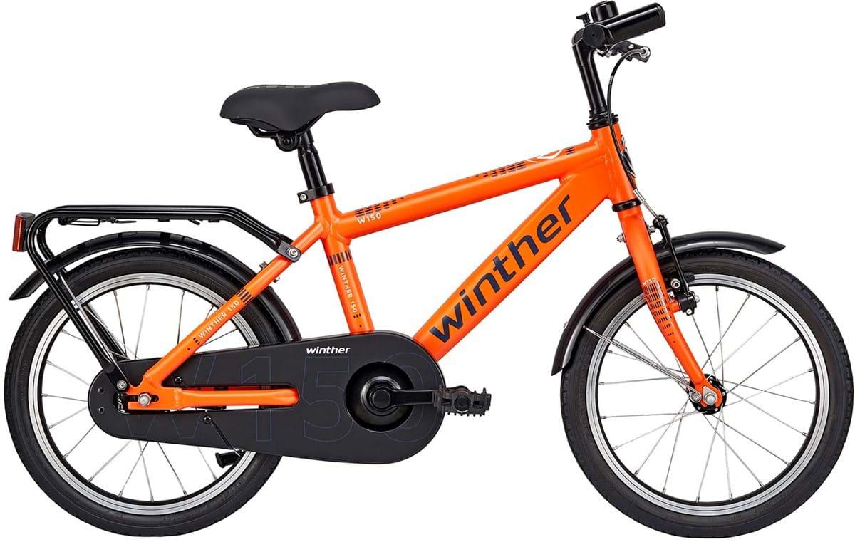 """Pedalatleten Winther 150 Alu Dreng 1 Gear Fodbremse Orange 16"""" - 2019 Mærker"""