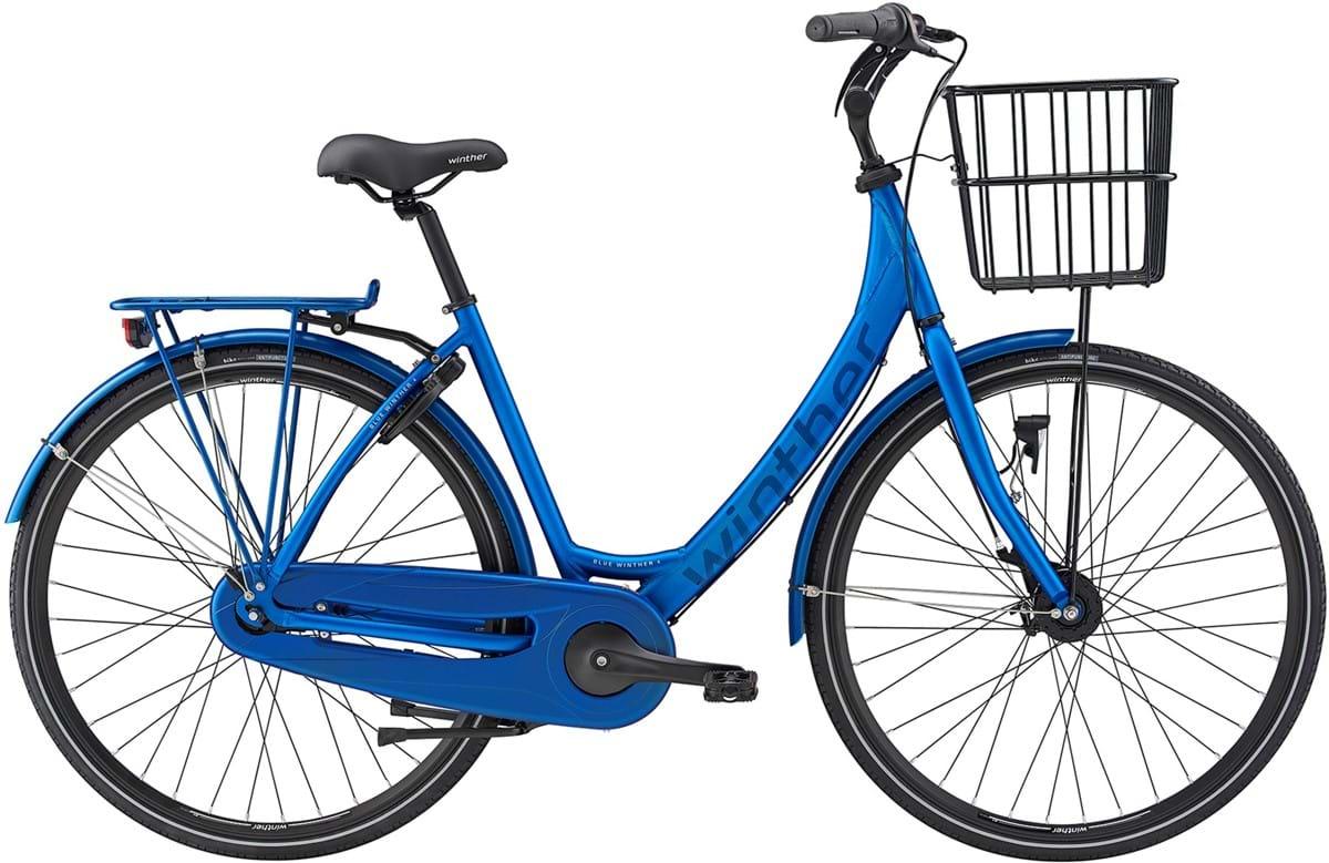 Pedalatleten Winther Blue 4 Dame 7 Gear Fod-/Rullebremse Dyn.Forlygte Mat Blå - 2019 Mærker