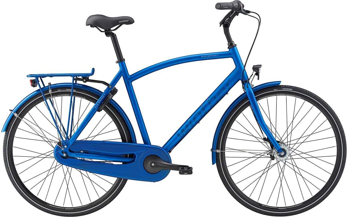 Winther Blue 5 Herre 7 Gear Mat Blå 56Cm - 2020 Cykler||Winther Cykler
