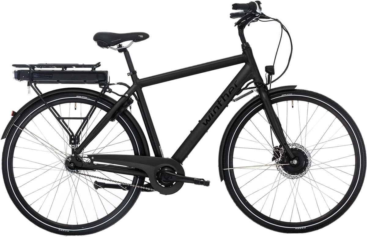 Winther Black Superbe 1 Elcykel Herre Fodbremse Matsort - 2019 Mærker