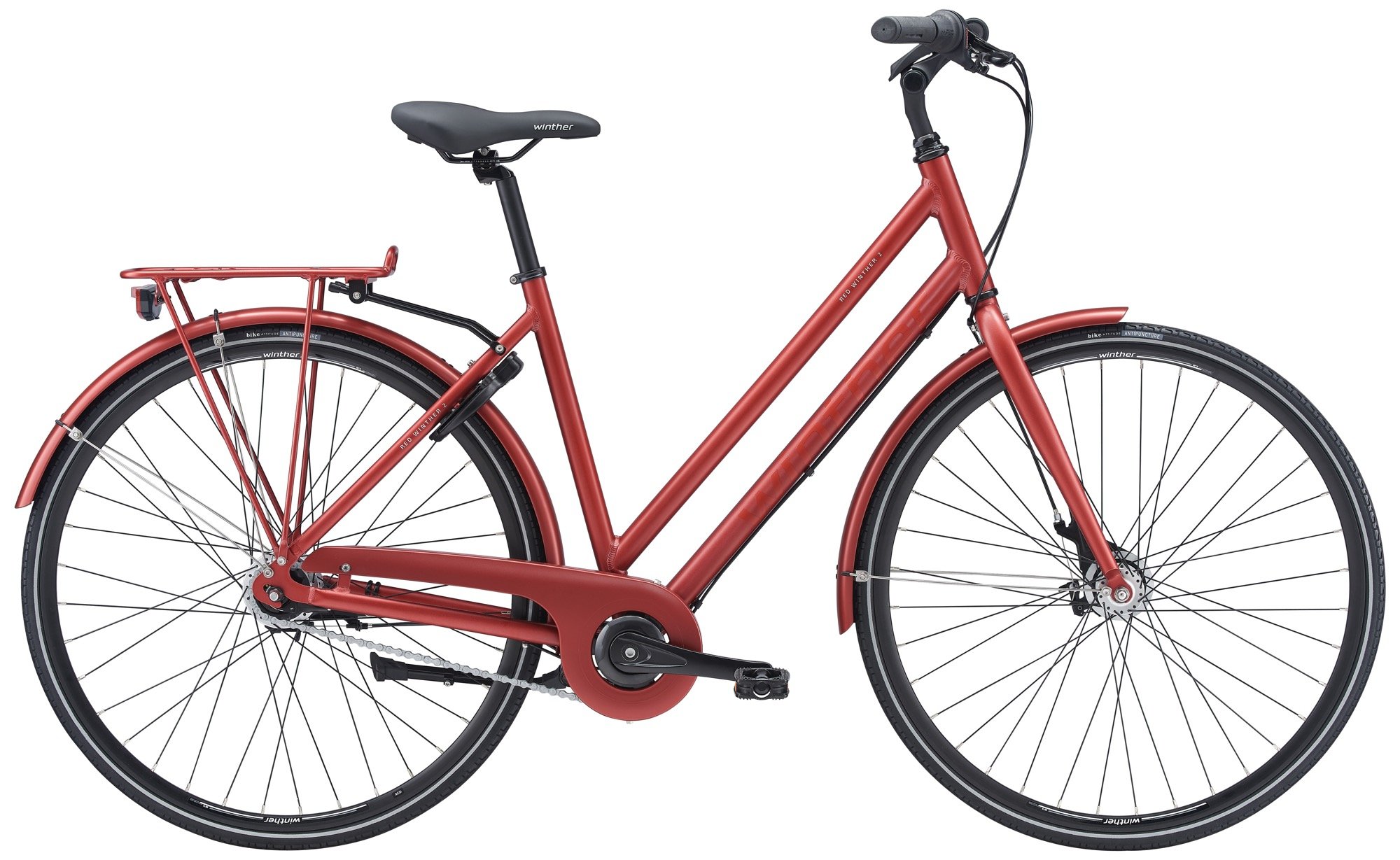Pedalatleten Winther Red 2 Dame 7 Gear Rød - 2020 Cykler||Winther Cykler
