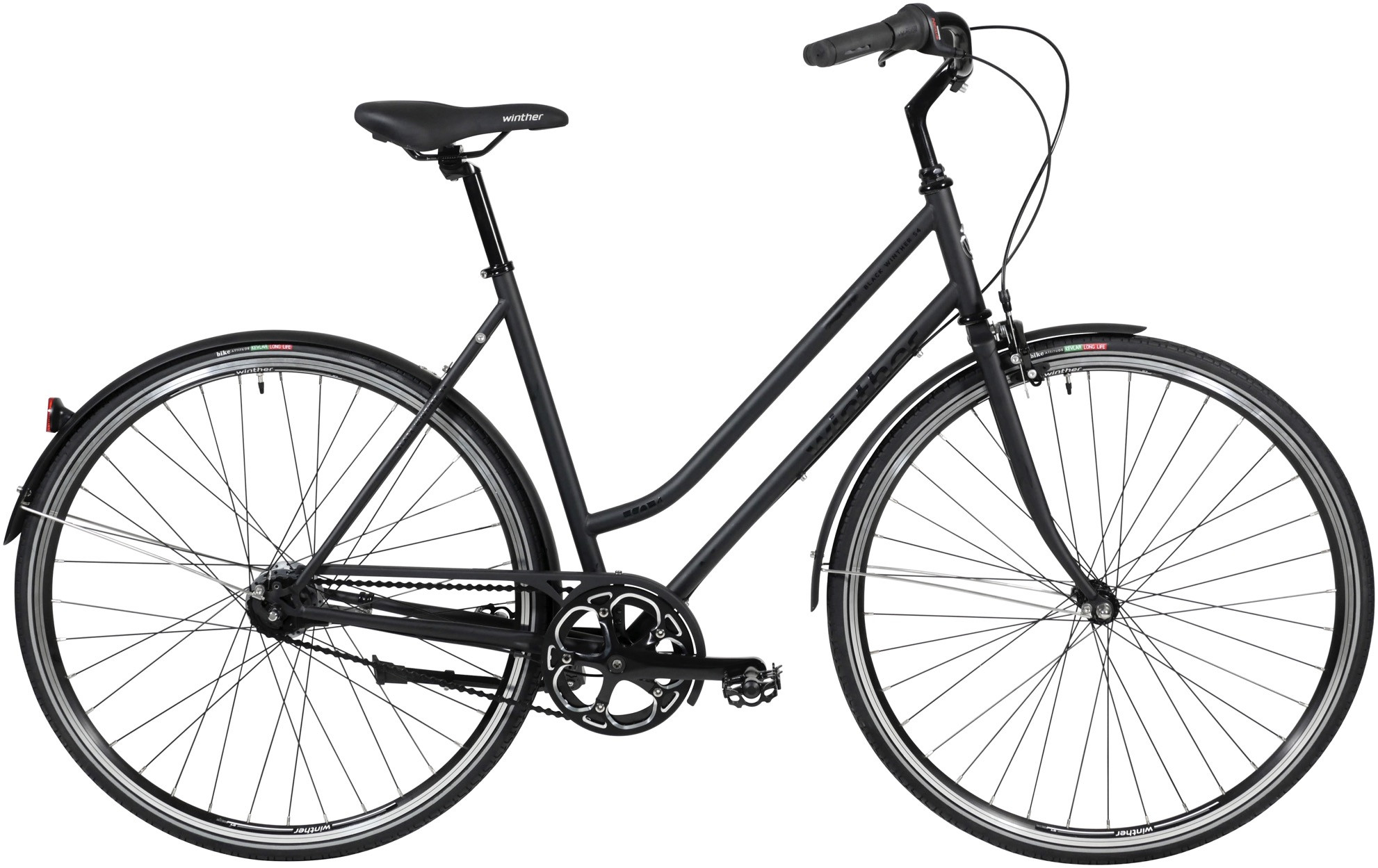 Image of Black Winther Steel 4 Dame 7 Gear Matsort - 2020