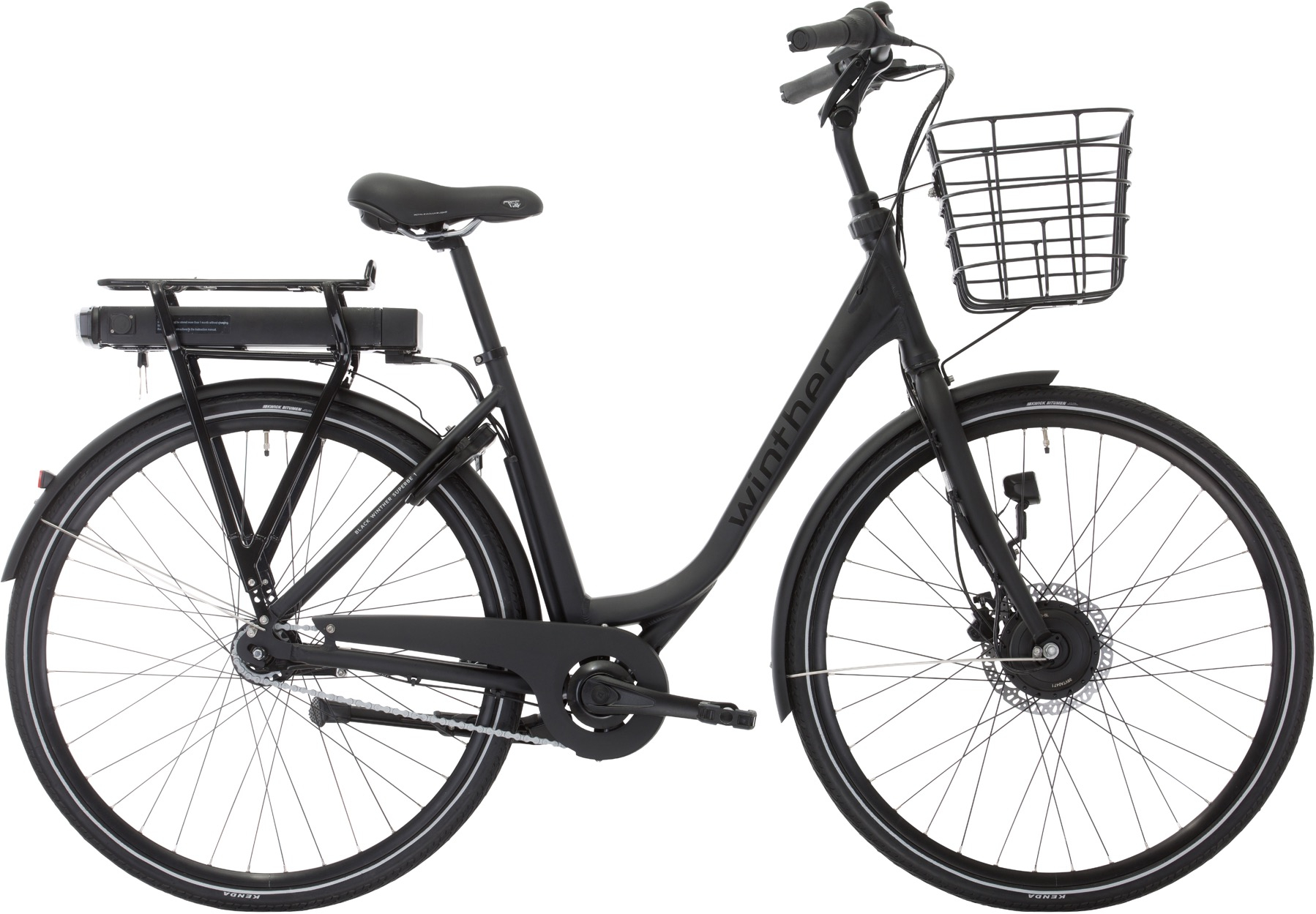 Image of Winther Black Superbe 1 Dame Elcykel Matsort - 2020