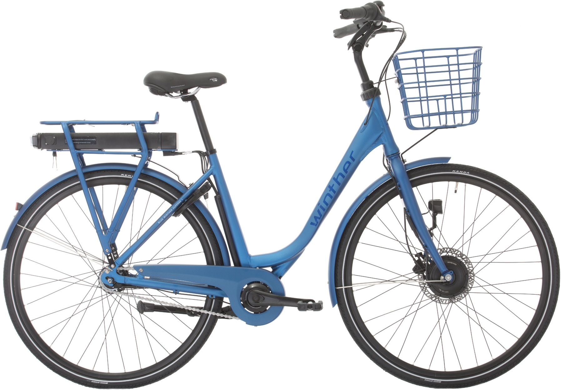Image of Winther Blue Superbe 1 Dame Elcykel Matblå 48cm - 2020
