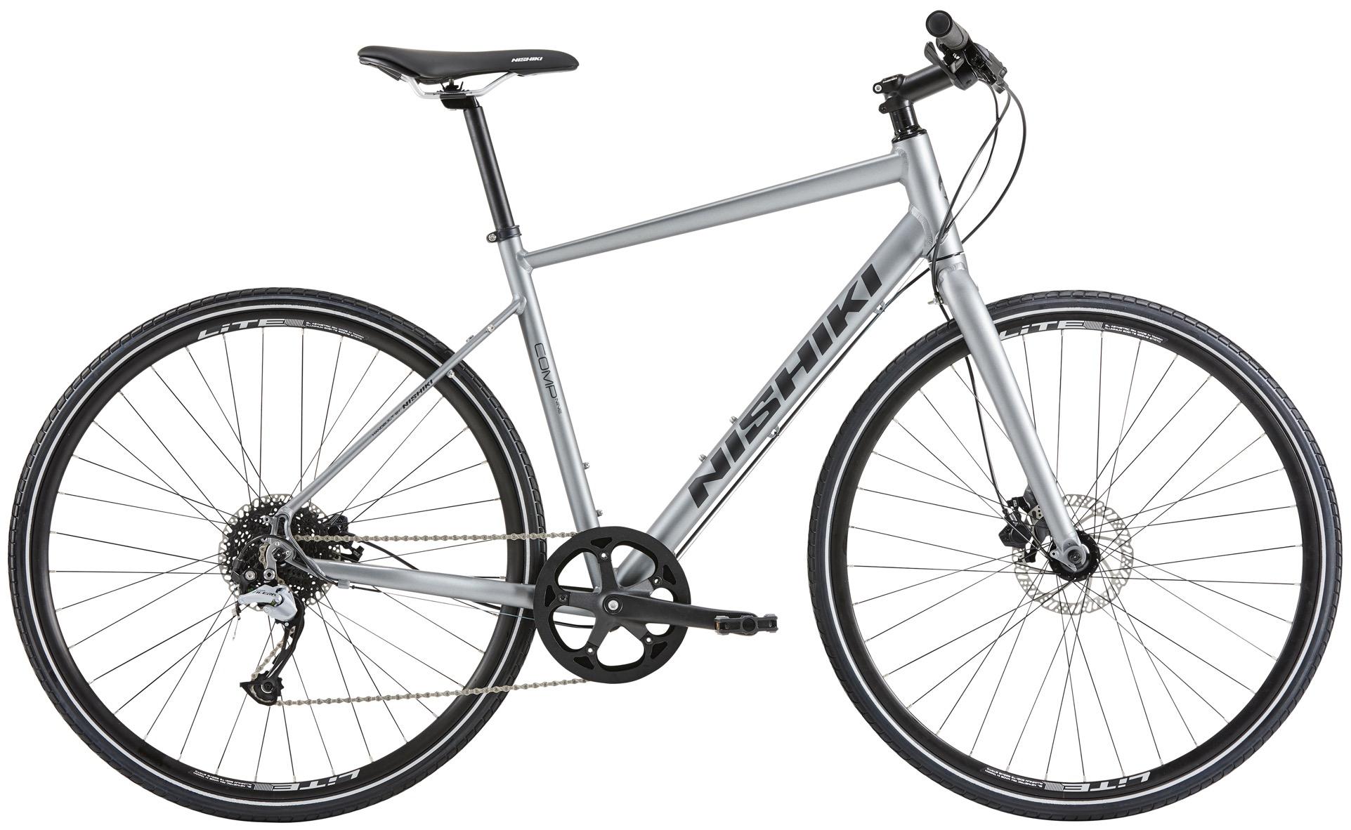 Pedalatleten Nishiki Comp Nine Herre 9 Gear Mat Grå - 2020 Cykler||Nishiki Cykler