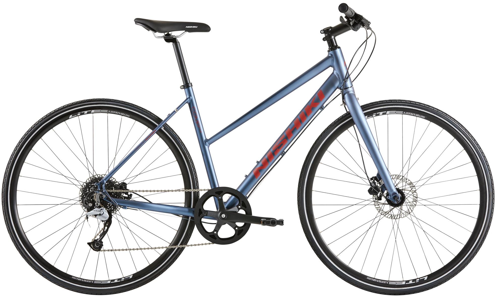 Pedalatleten Nishiki Comp Nine Dame 9 Gear Mat Blå - 2020 Cykler  Nishiki Cykler