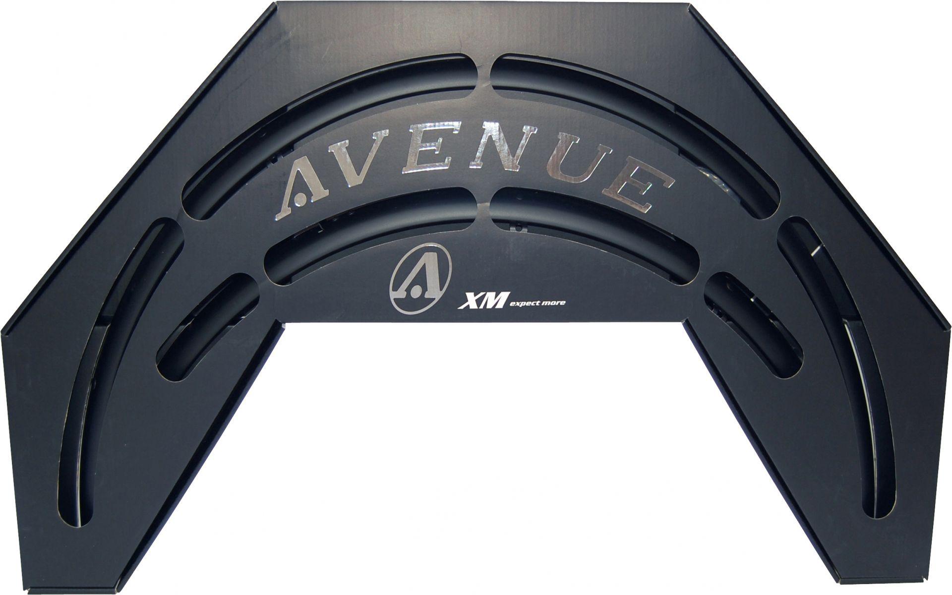 Image of Skærmsæt Avenue DinoBlackRubber Black Mat 35mm alu