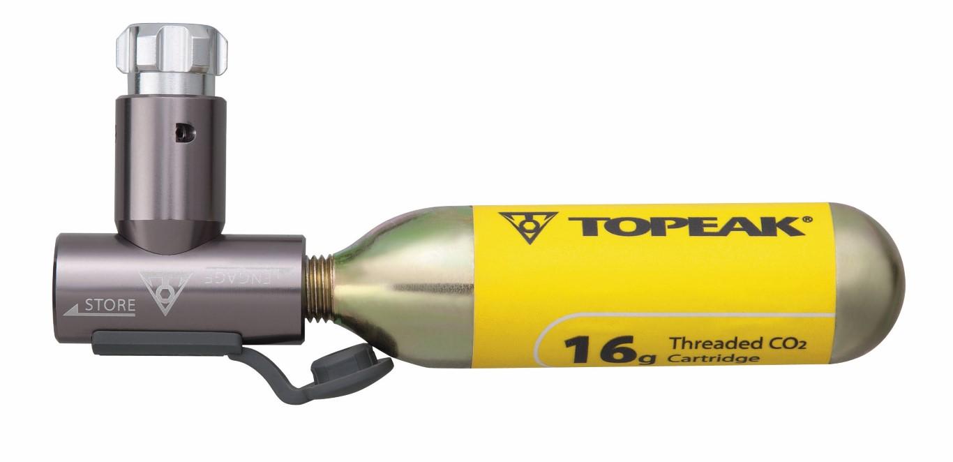 Pedalatleten Topeak Co2 Pumpe Airbooster Hoved Mærker