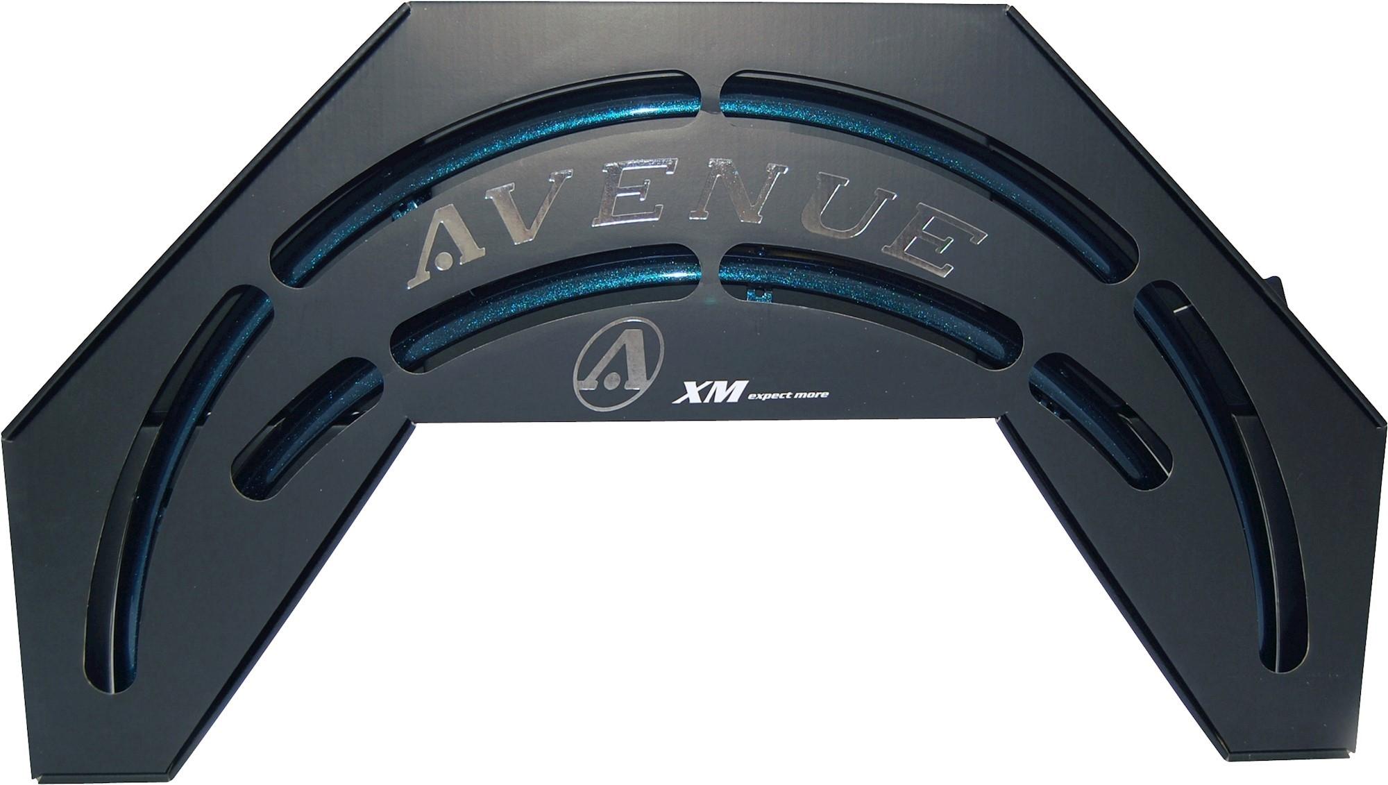 Image of Skærmsæt Avenue IbizBlue Shiny 35mm alu med dobbeltstivere