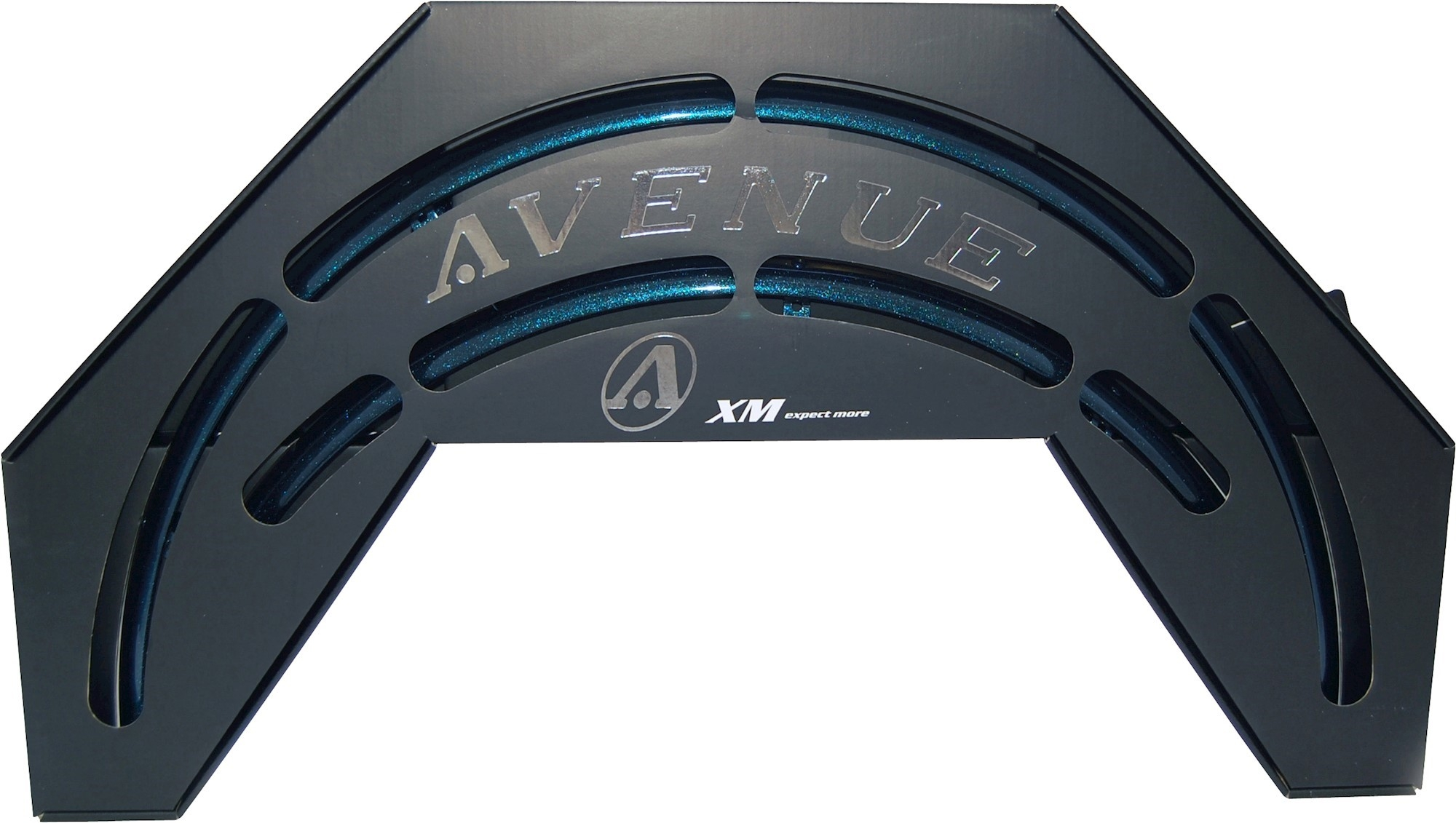 Skærmsæt Avenue IbizBlue Shiny 35mm alu med dobbeltstivere